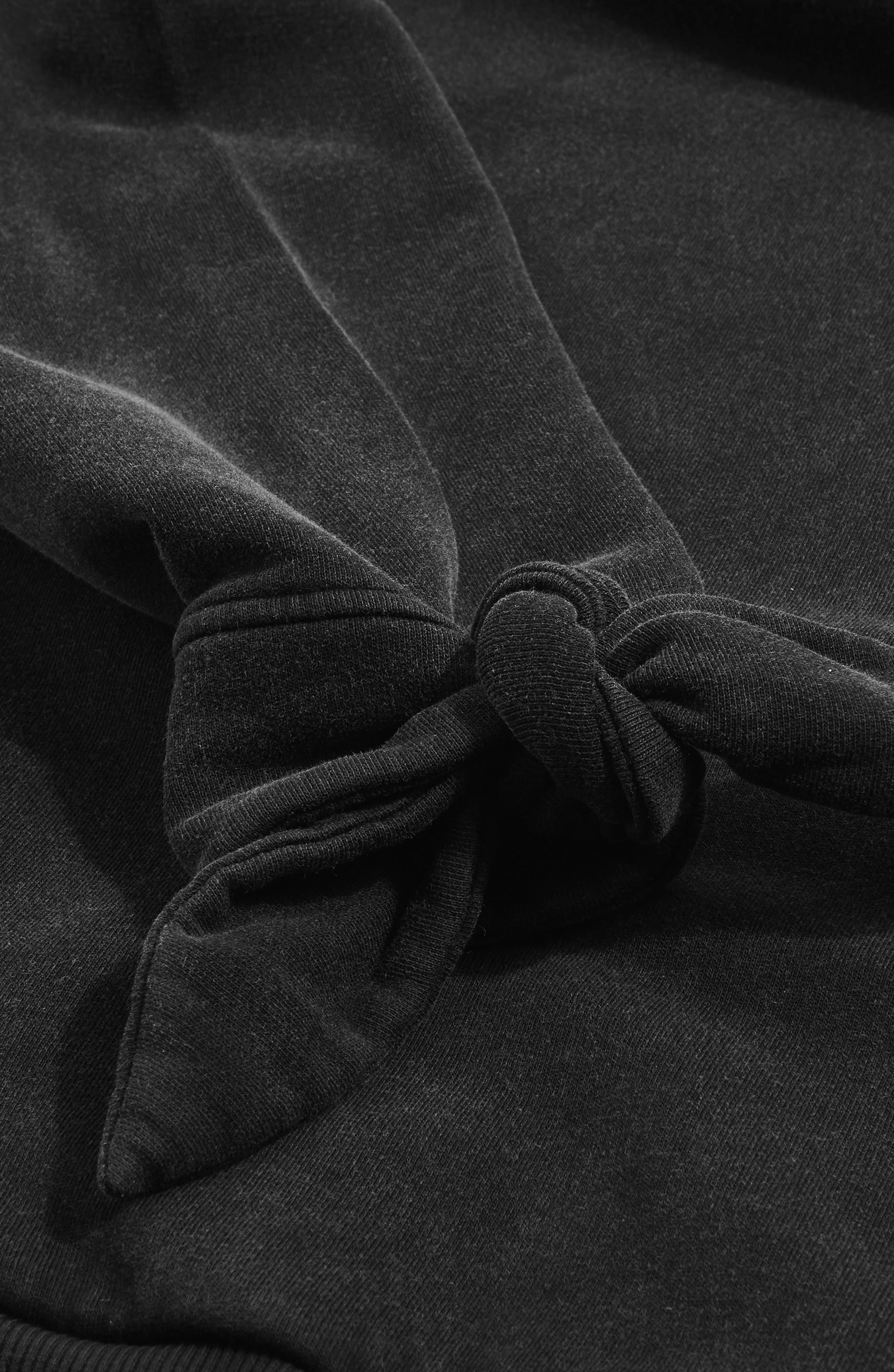 Alternate Image 2  - Topshop Boutique Tie Sleeve Hoodie