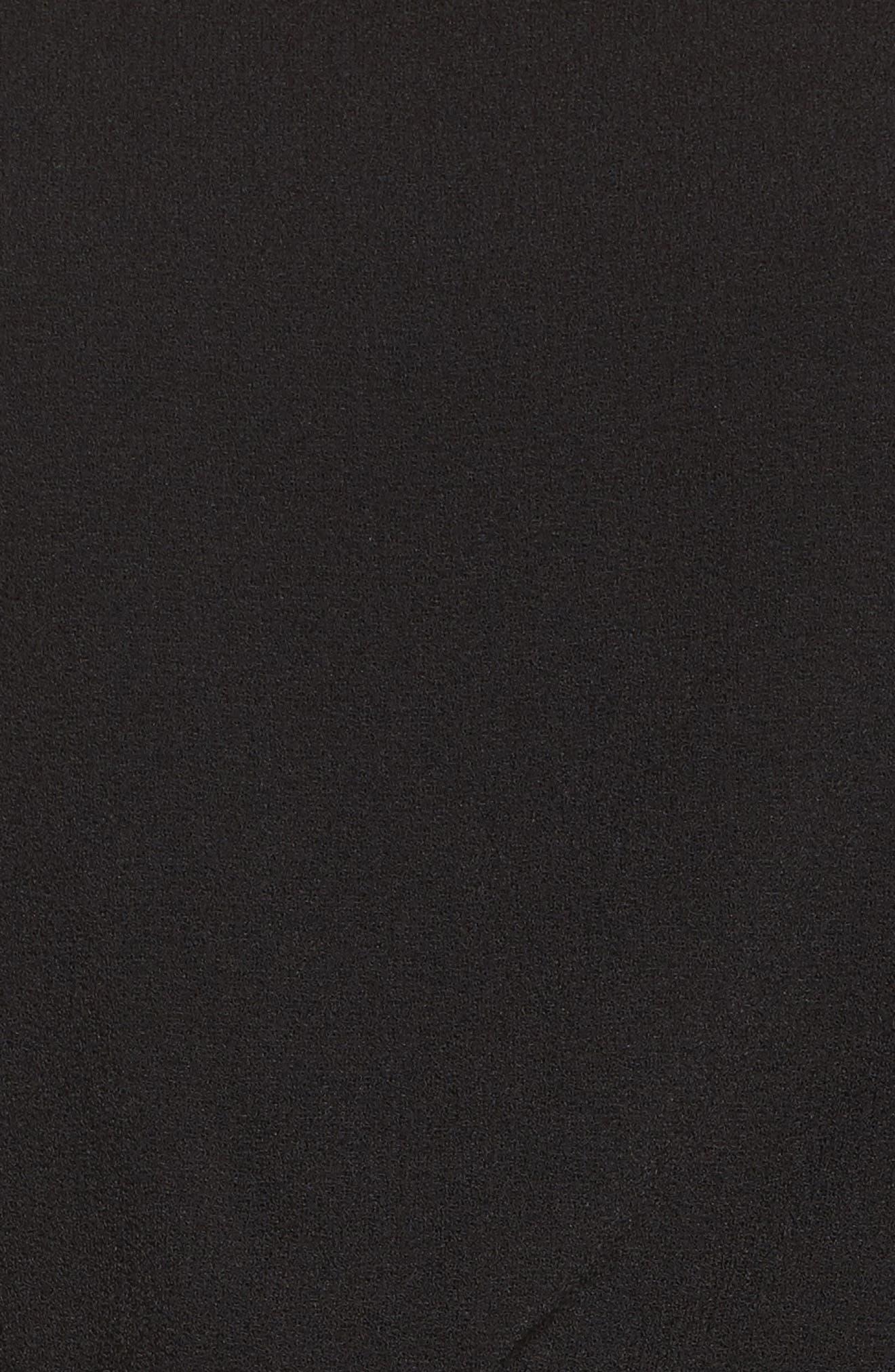 Cold Shoulder Blouson Jumpsuit,                             Alternate thumbnail 5, color,                             Black