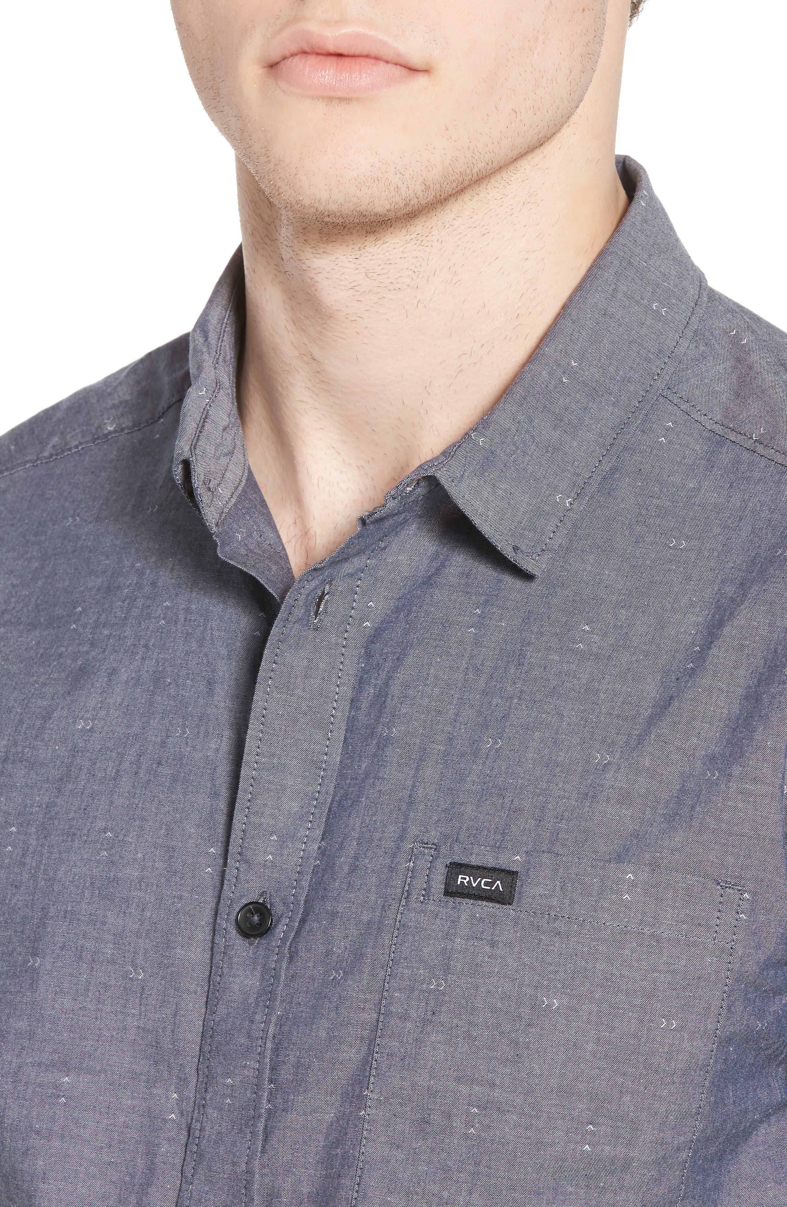 Arrows Woven Shirt,                             Alternate thumbnail 4, color,                             Classic Indigo