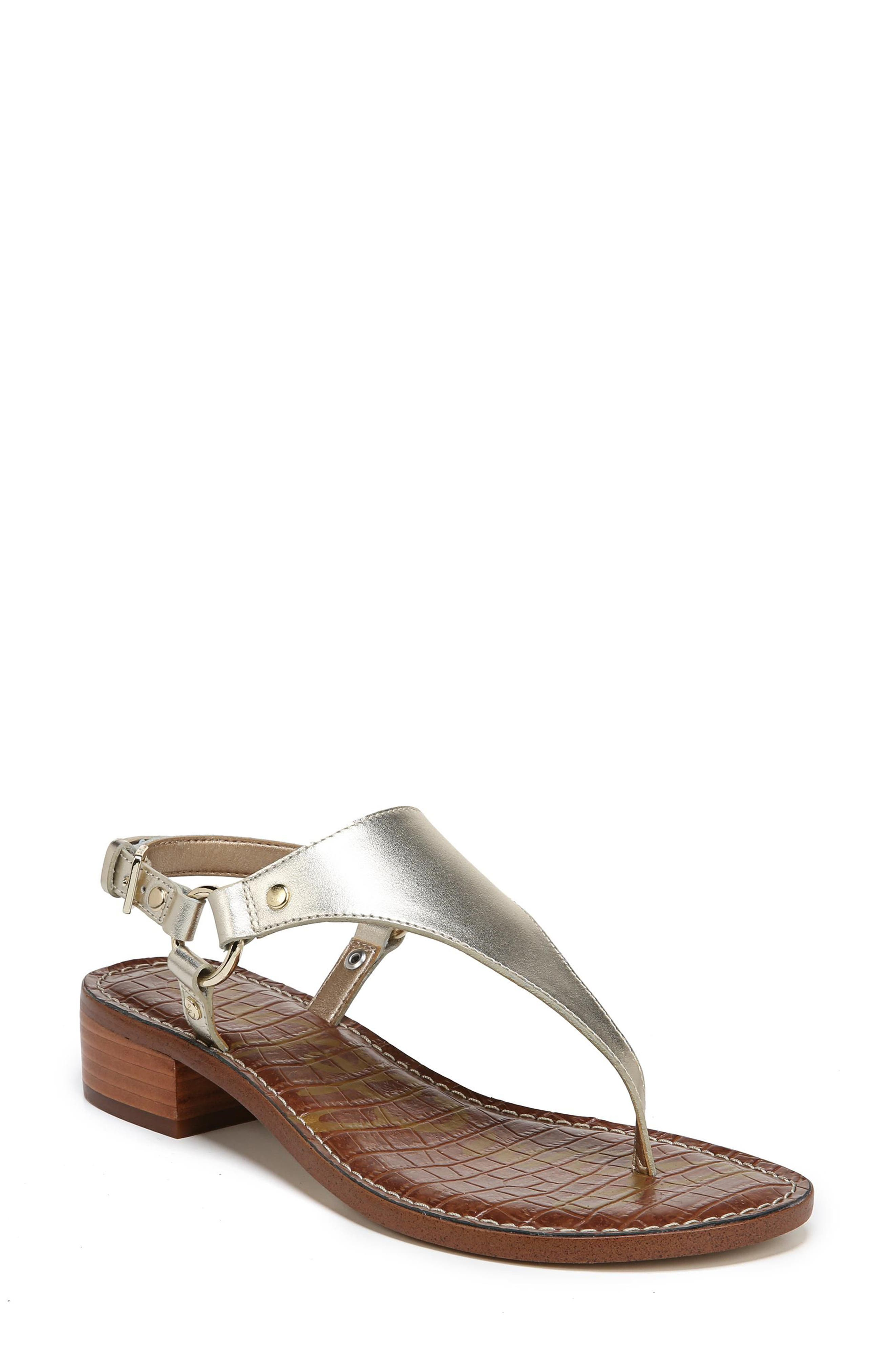 Jude Sandal,                             Main thumbnail 1, color,                             Molten Gold Leather