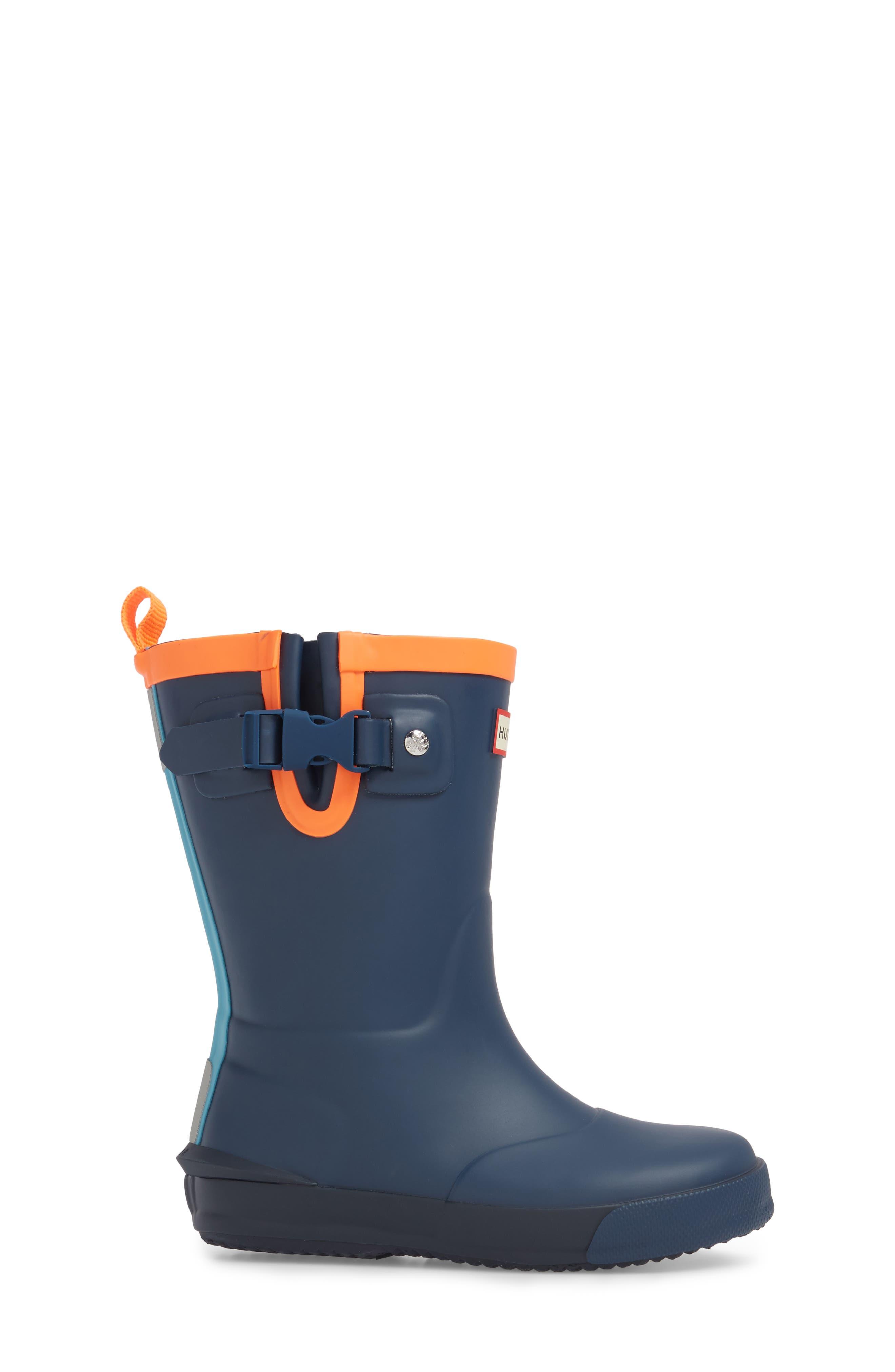 'Davison' Rain Boot,                             Alternate thumbnail 3, color,                             Dark Lake Blue/ Navy/ Hazard