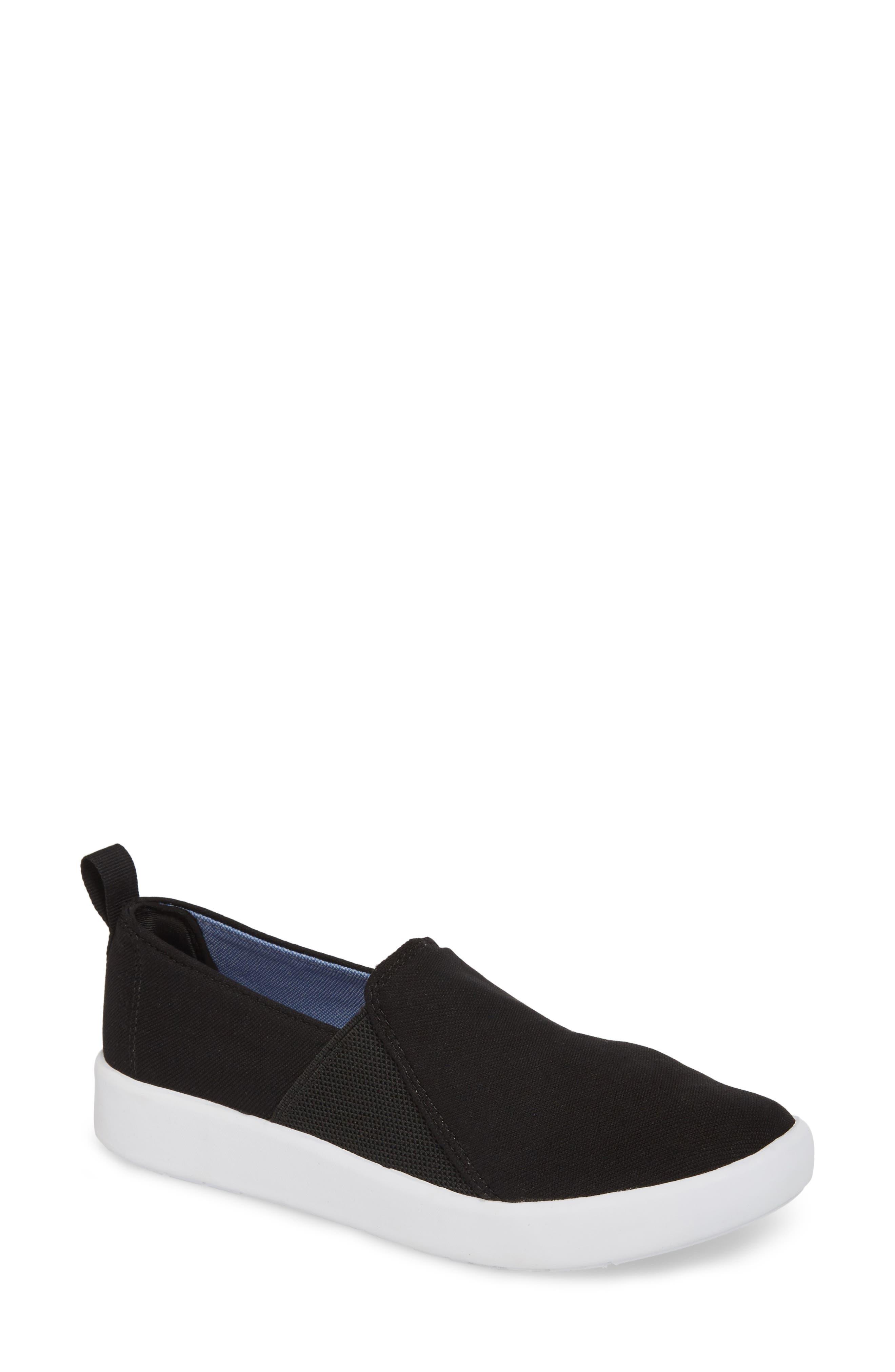 Studio Liv Jersey Slip-On Sneaker,                             Main thumbnail 1, color,                             Black