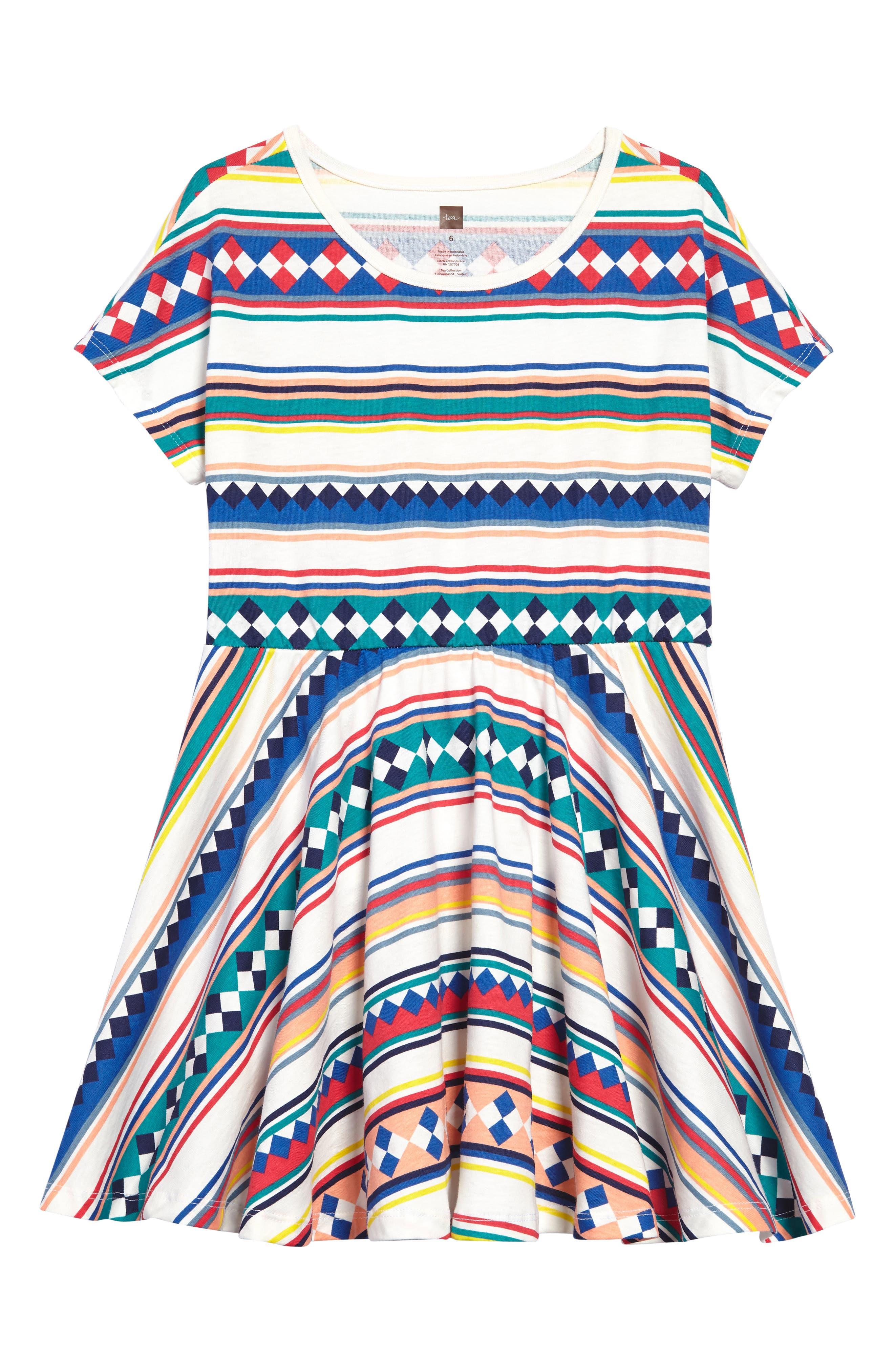 Alternate Image 1 Selected - Tea Collection Stripe Dress (Toddler Girls, Little Girls & Big Girls)