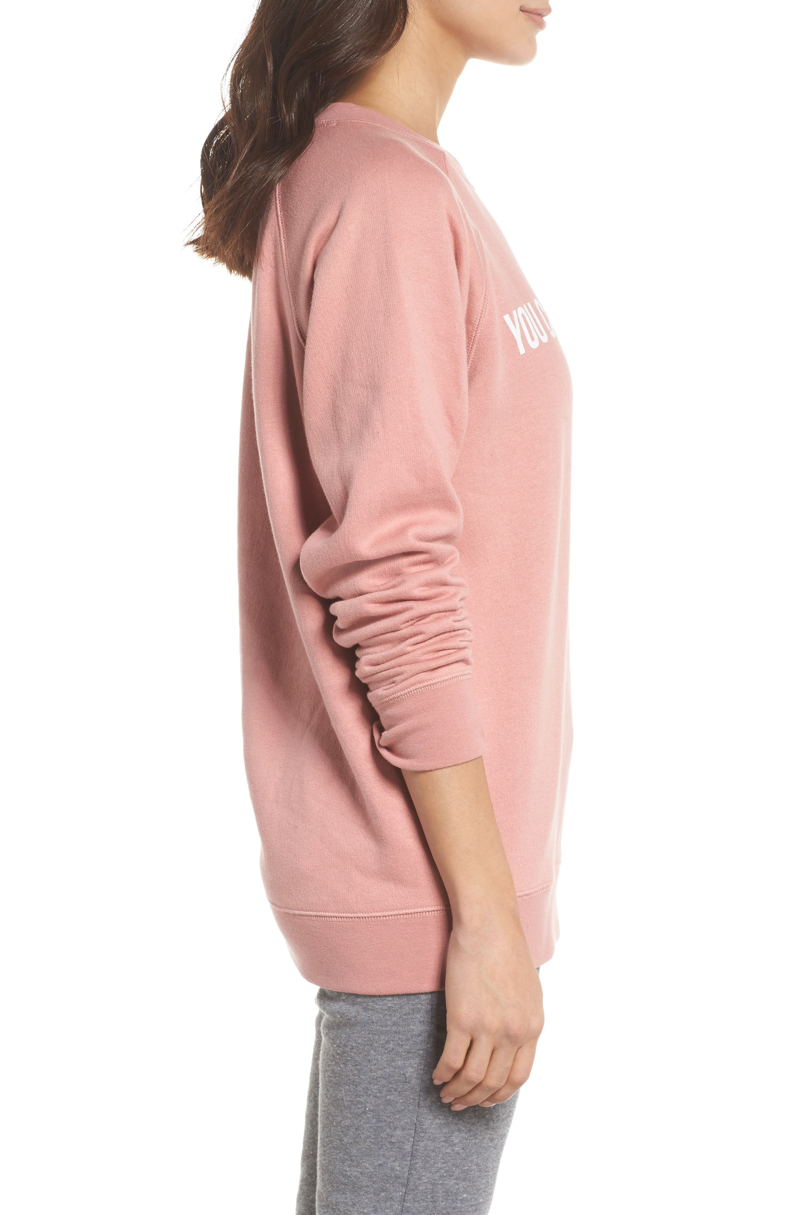 You Can Sip With Us Sweatshirt,                             Alternate thumbnail 3, color,                             Dusty Rose