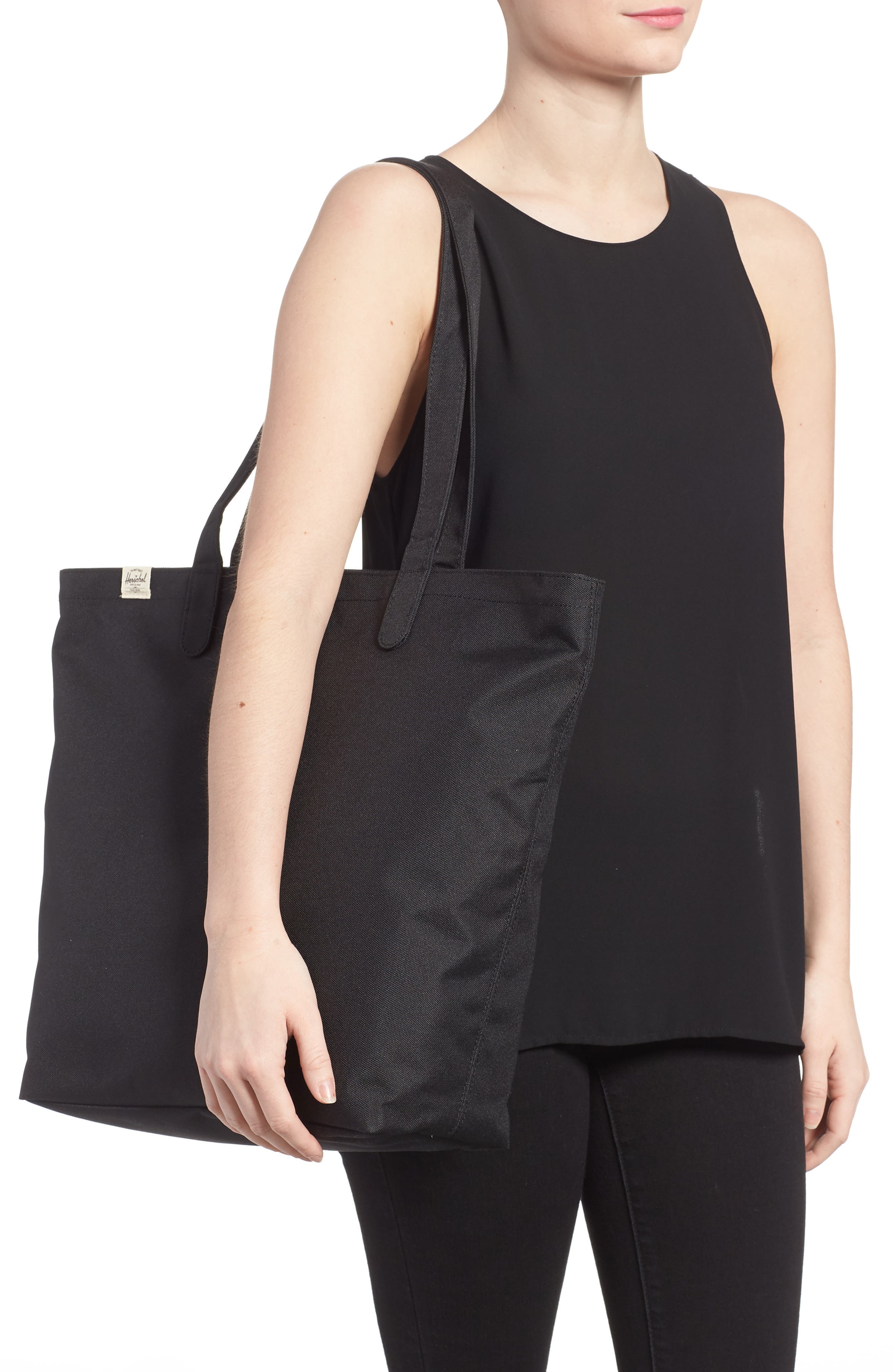 Mica Canvas Tote,                             Alternate thumbnail 2, color,                             Black