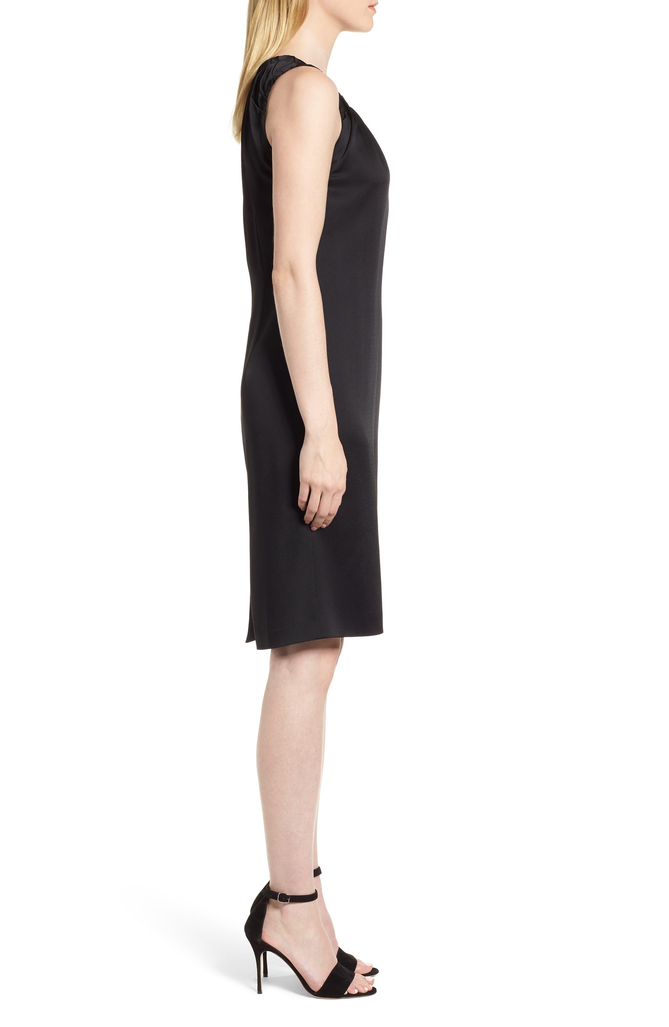 Daviana Sheath Dress,                             Alternate thumbnail 3, color,                             Black