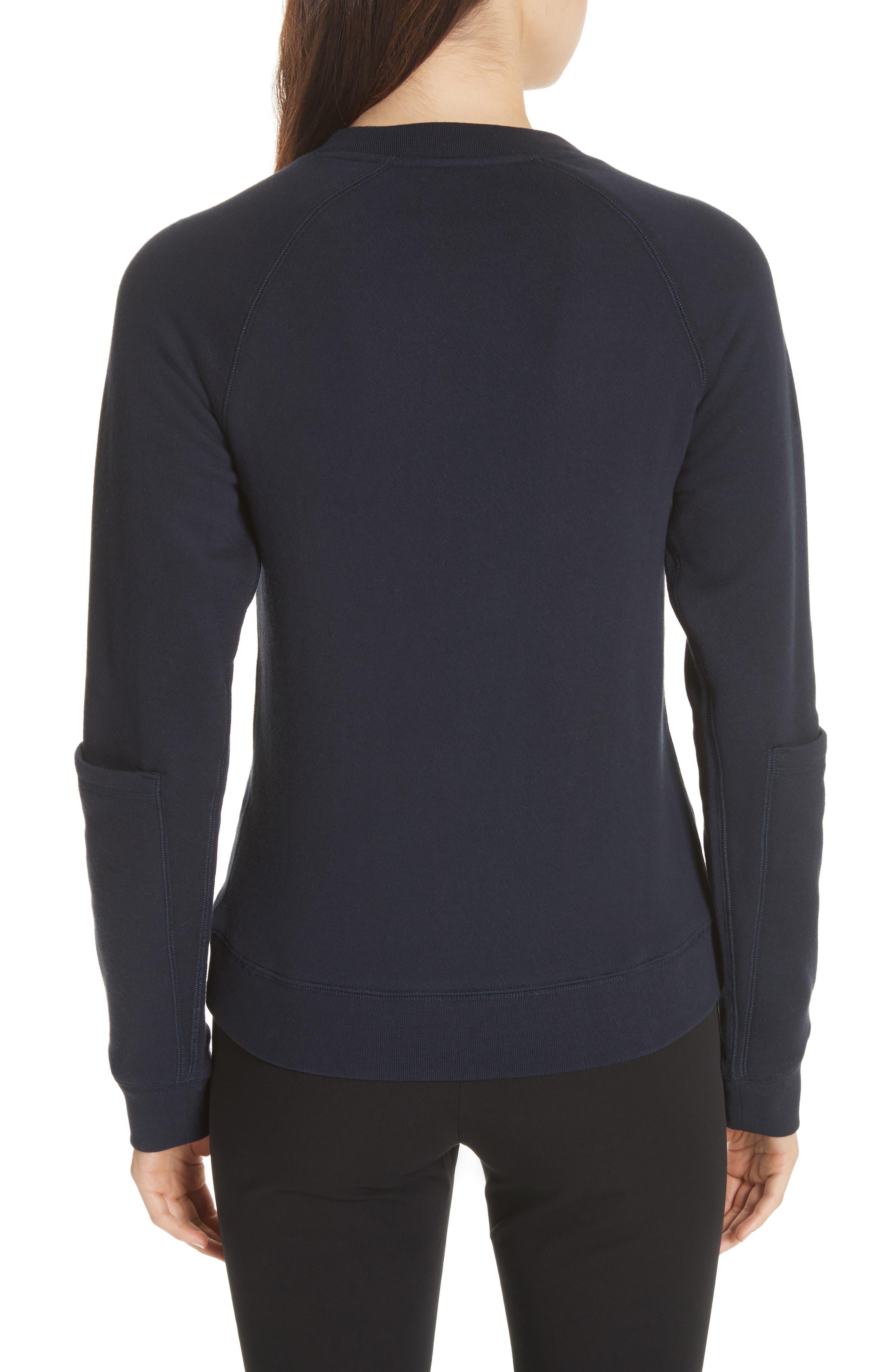 Pocket Sleeve Sweatshirt,                             Alternate thumbnail 2, color,                             Navy