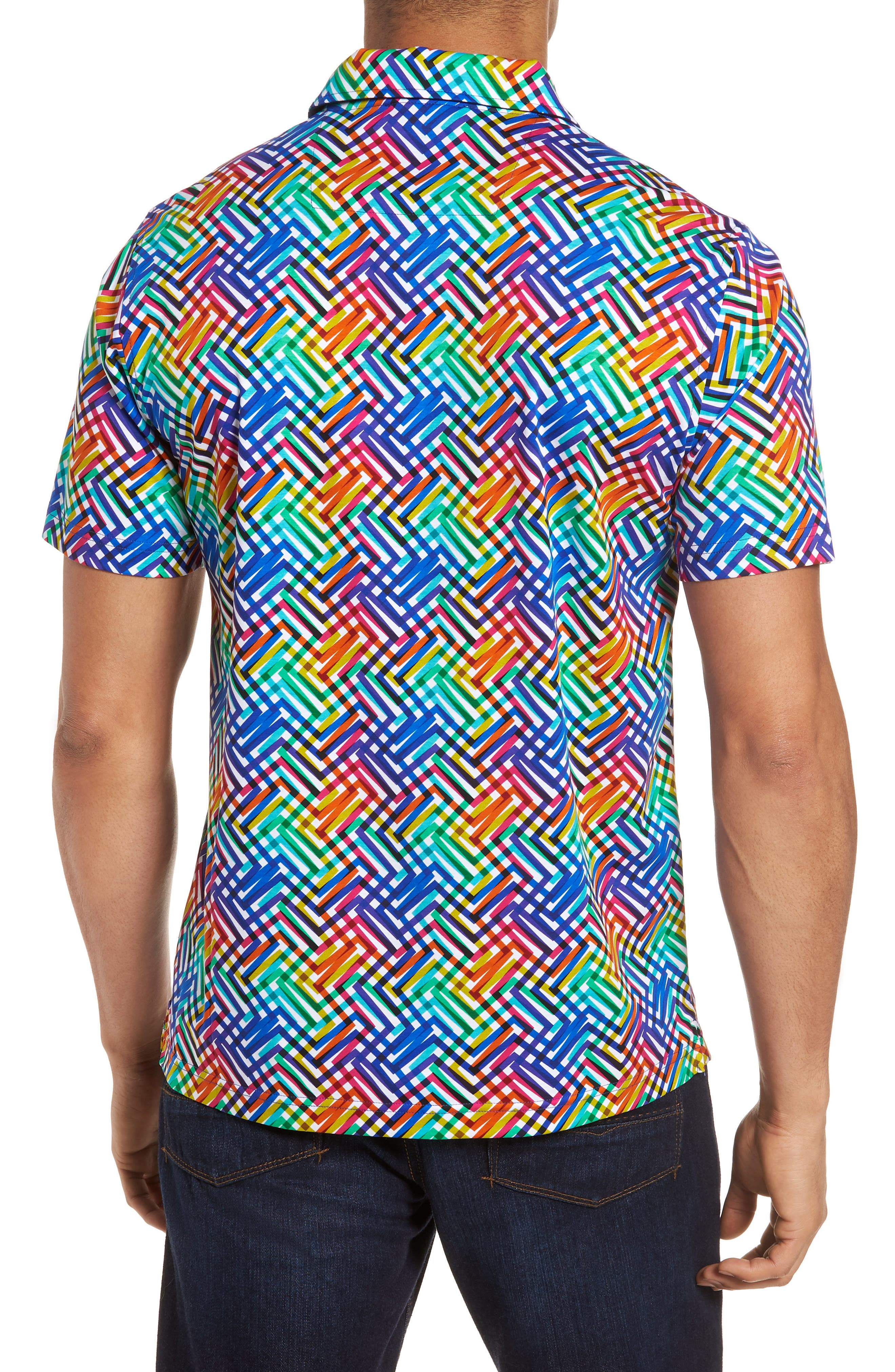 Regular Fit Knit Polo,                             Alternate thumbnail 2, color,                             Candy