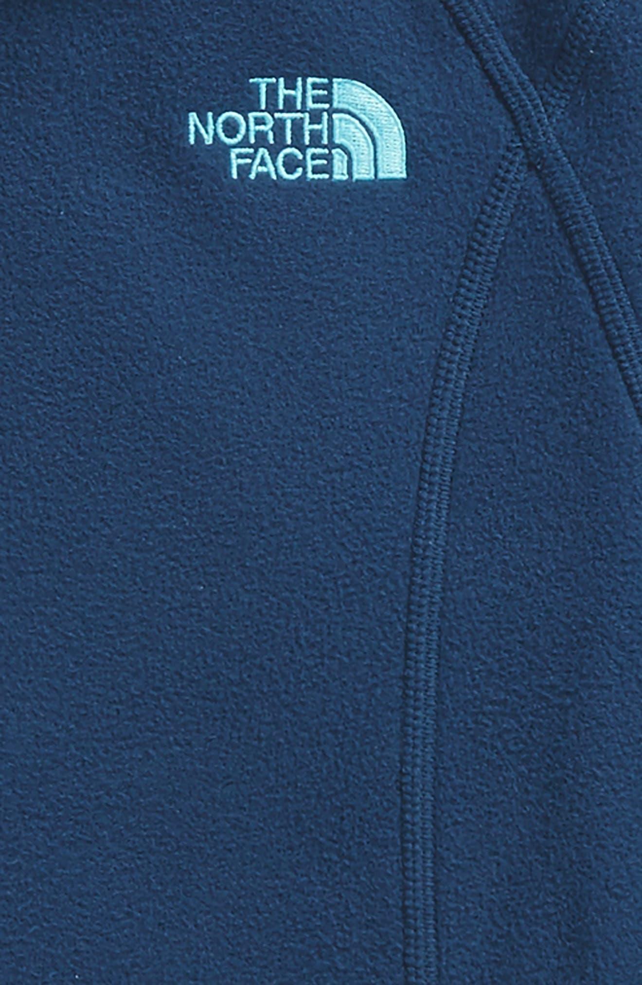 Glacier Full Zip Fleece Hoodie,                             Alternate thumbnail 2, color,                             Blue Wing Teal