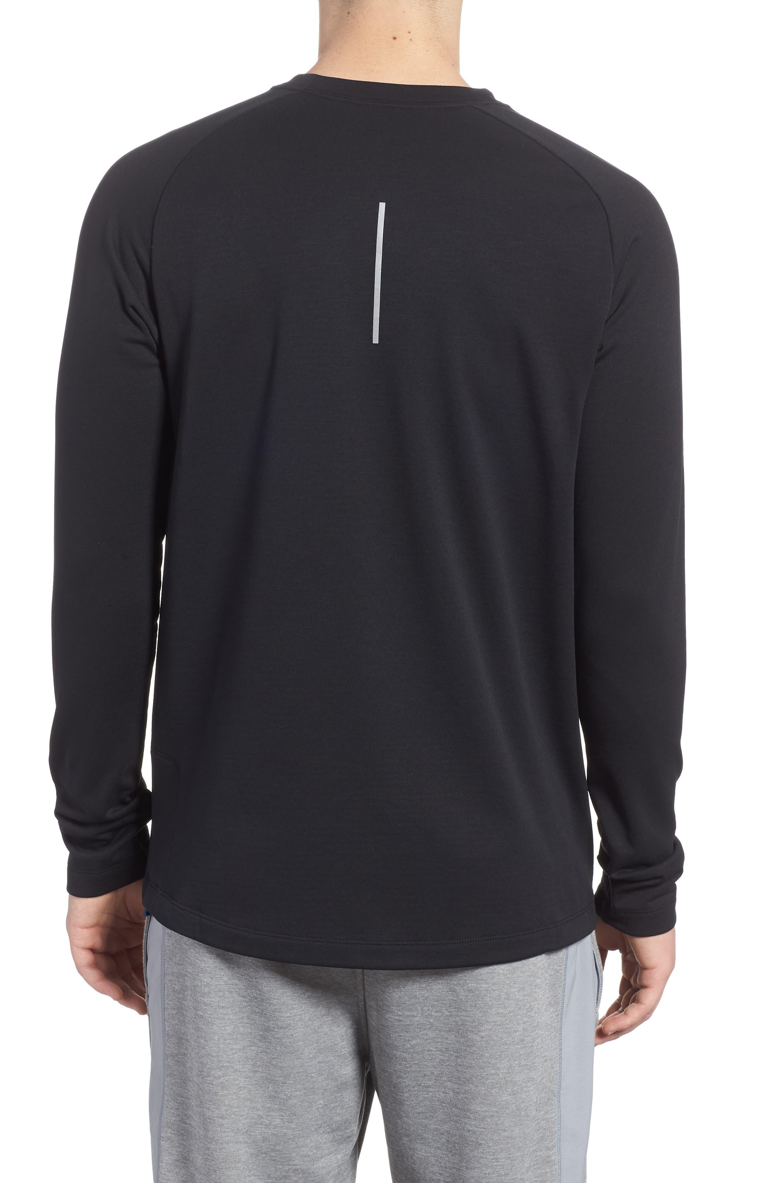 Running Element Long Sleeve T-Shirt,                             Alternate thumbnail 2, color,                             Black