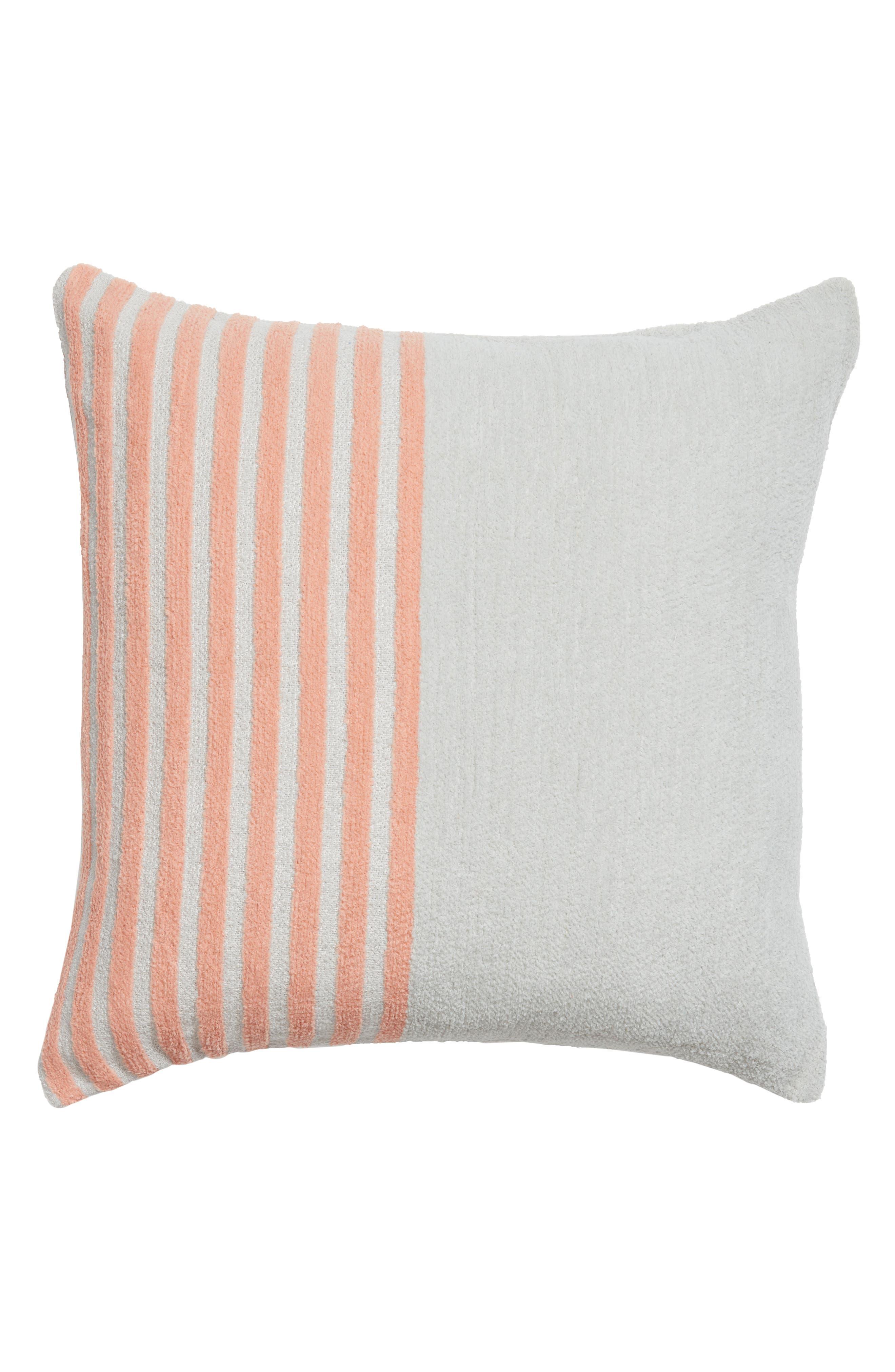 Hammam Stripe Accent Pillow,                             Main thumbnail 1, color,                             Grey Vapor