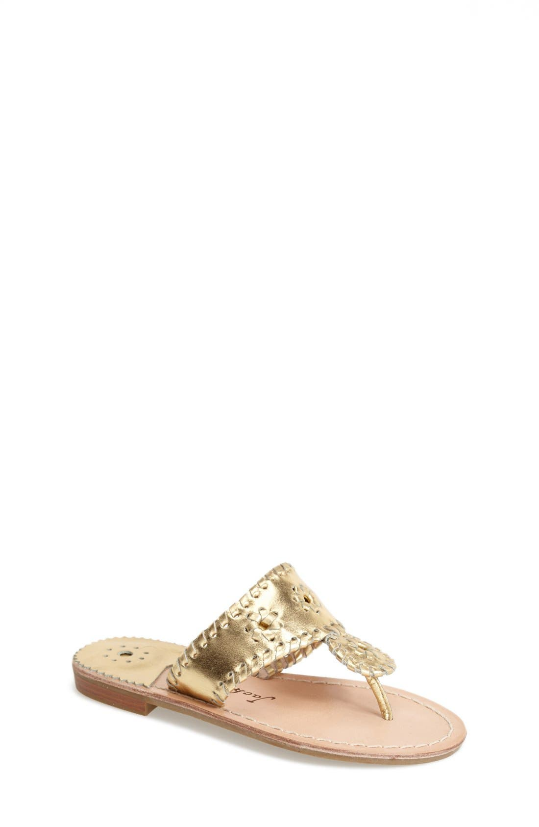 'Miss Hamptons' Sandal,                         Main,                         color, Gold
