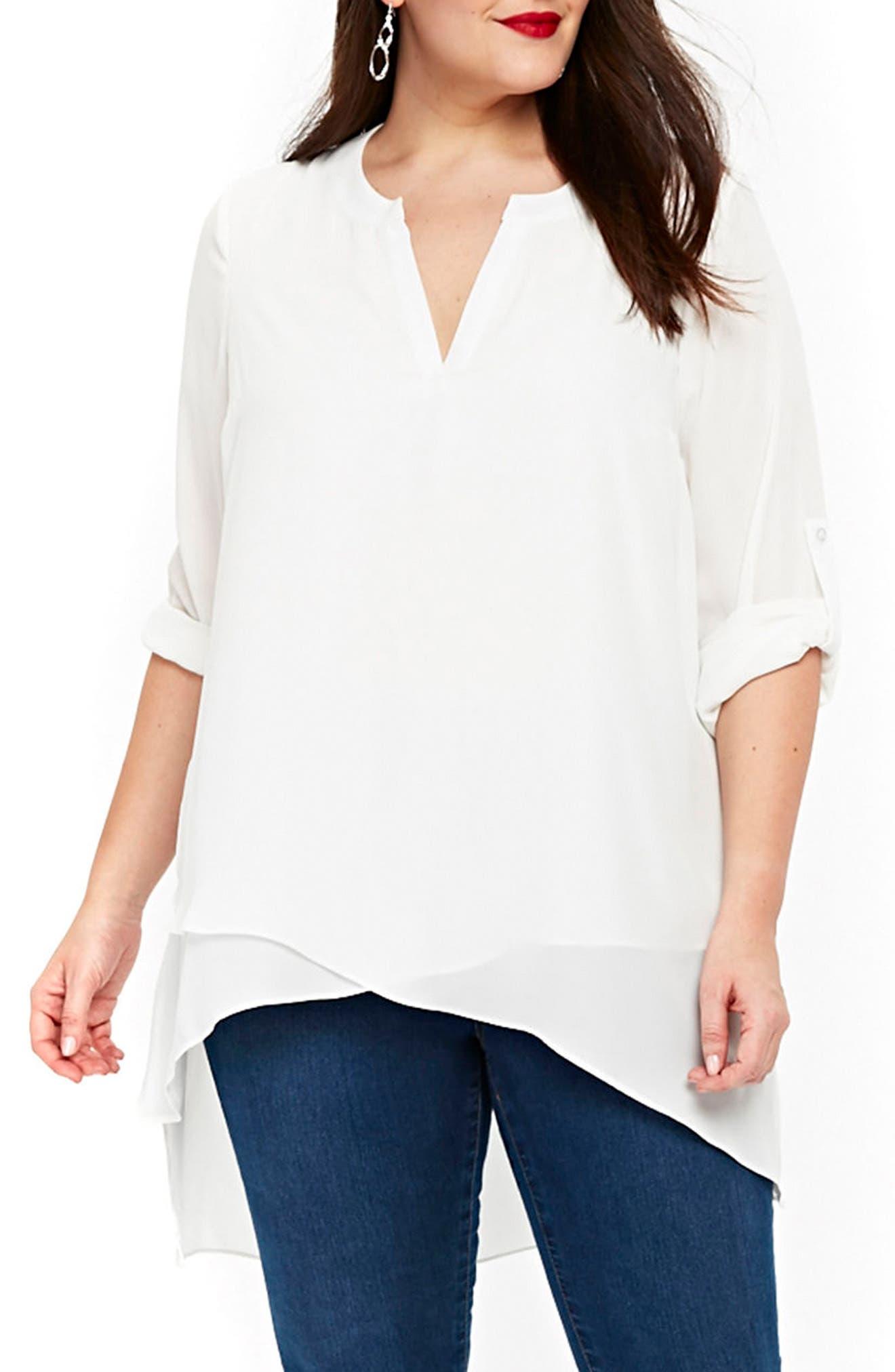 Evans Asymmetrical Shirt (Plus Size)