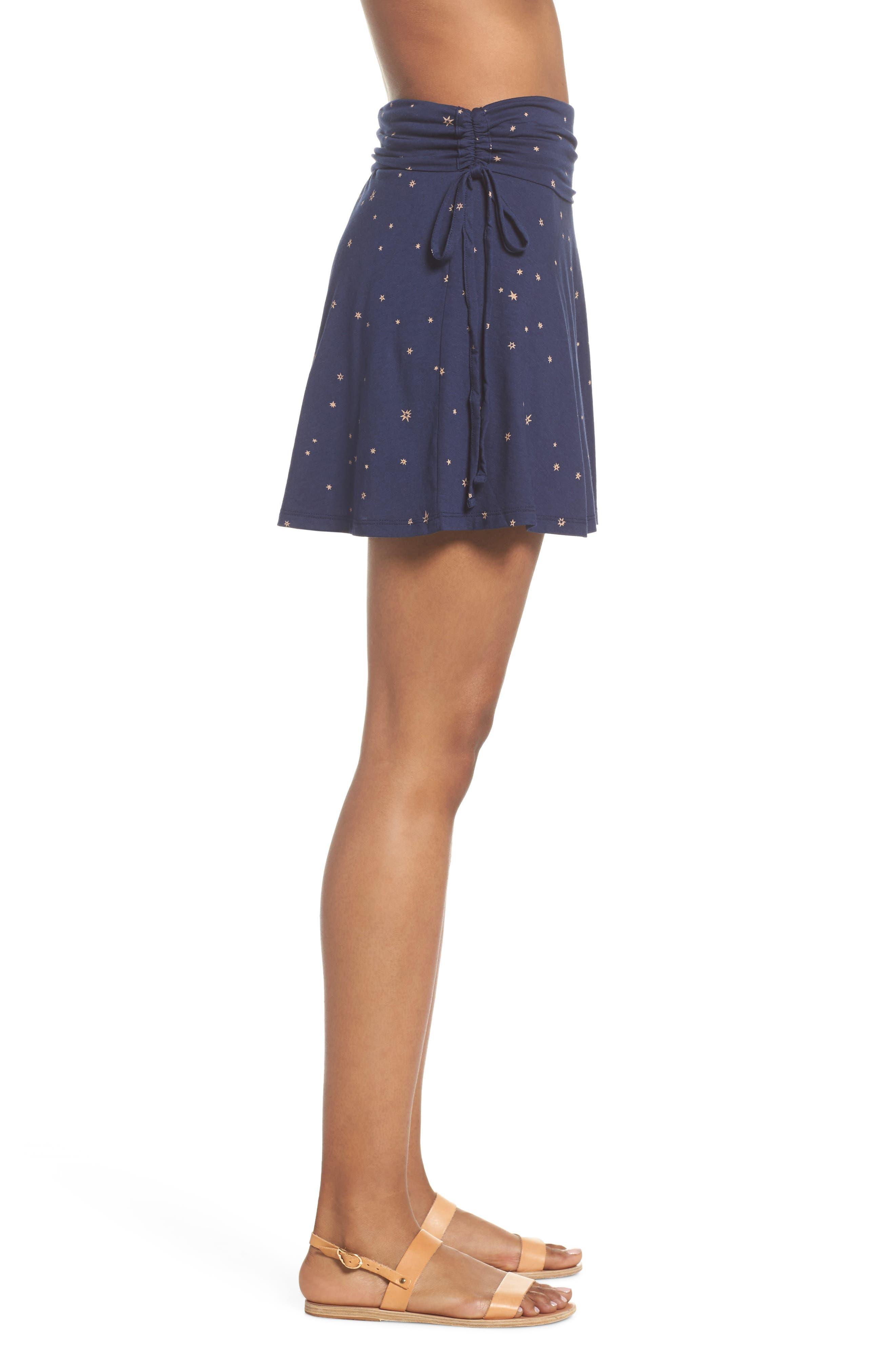 Lithia Cotton Blend Skirt,                             Alternate thumbnail 3, color,                             Micr Mica Pop Classic Navy