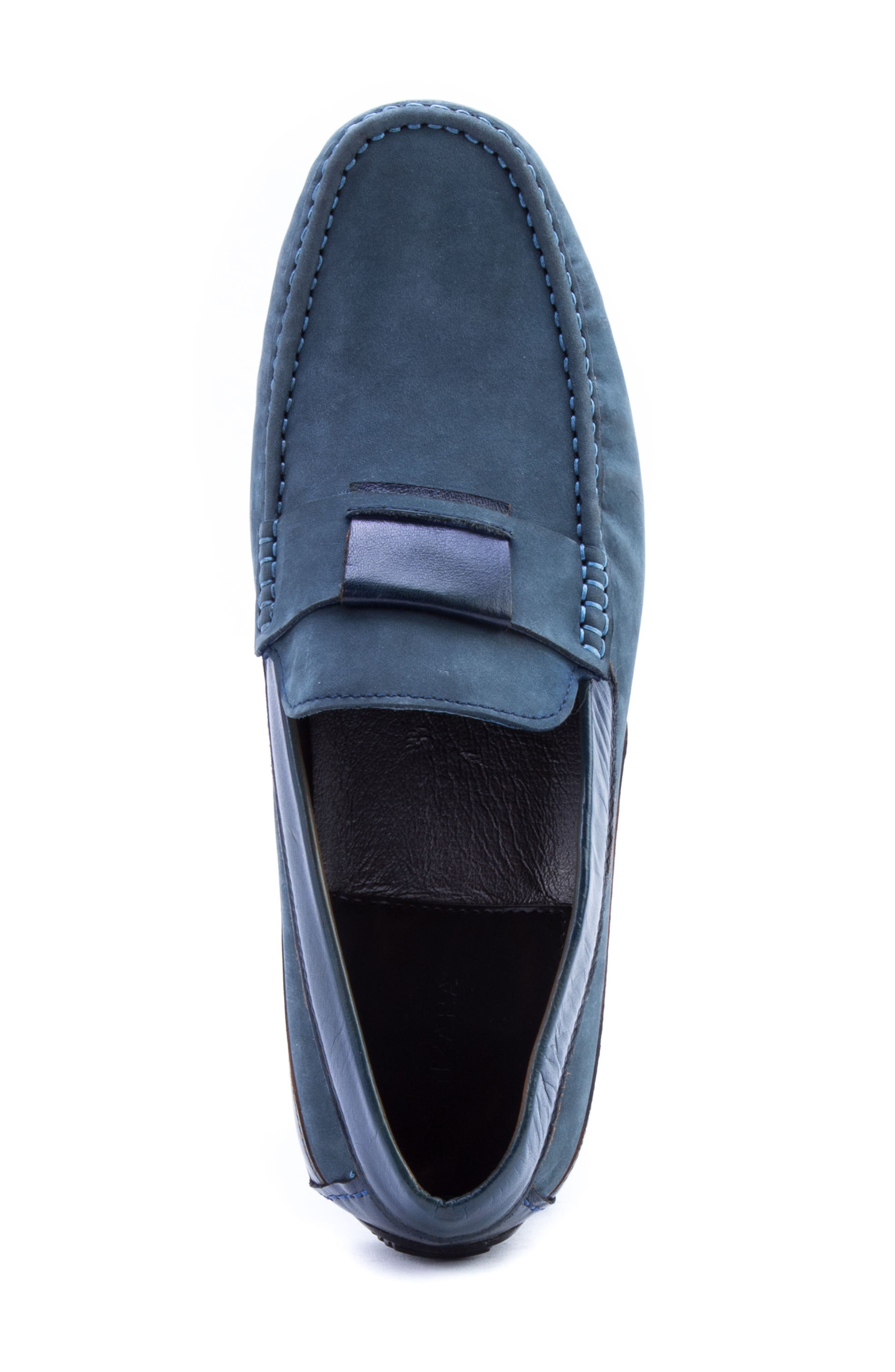 Seurat Driving Loafer,                             Alternate thumbnail 5, color,                             Blue Suede/ Leather