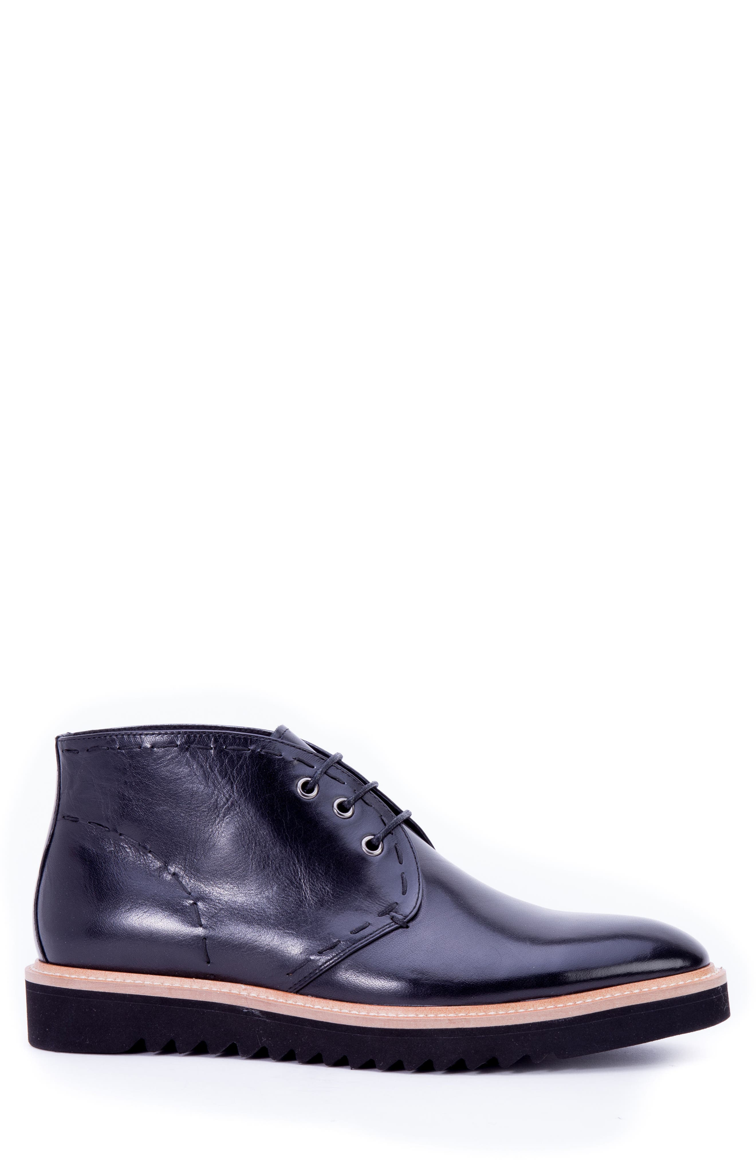 Lombardo Chukka Boot,                             Alternate thumbnail 3, color,                             Black Leather