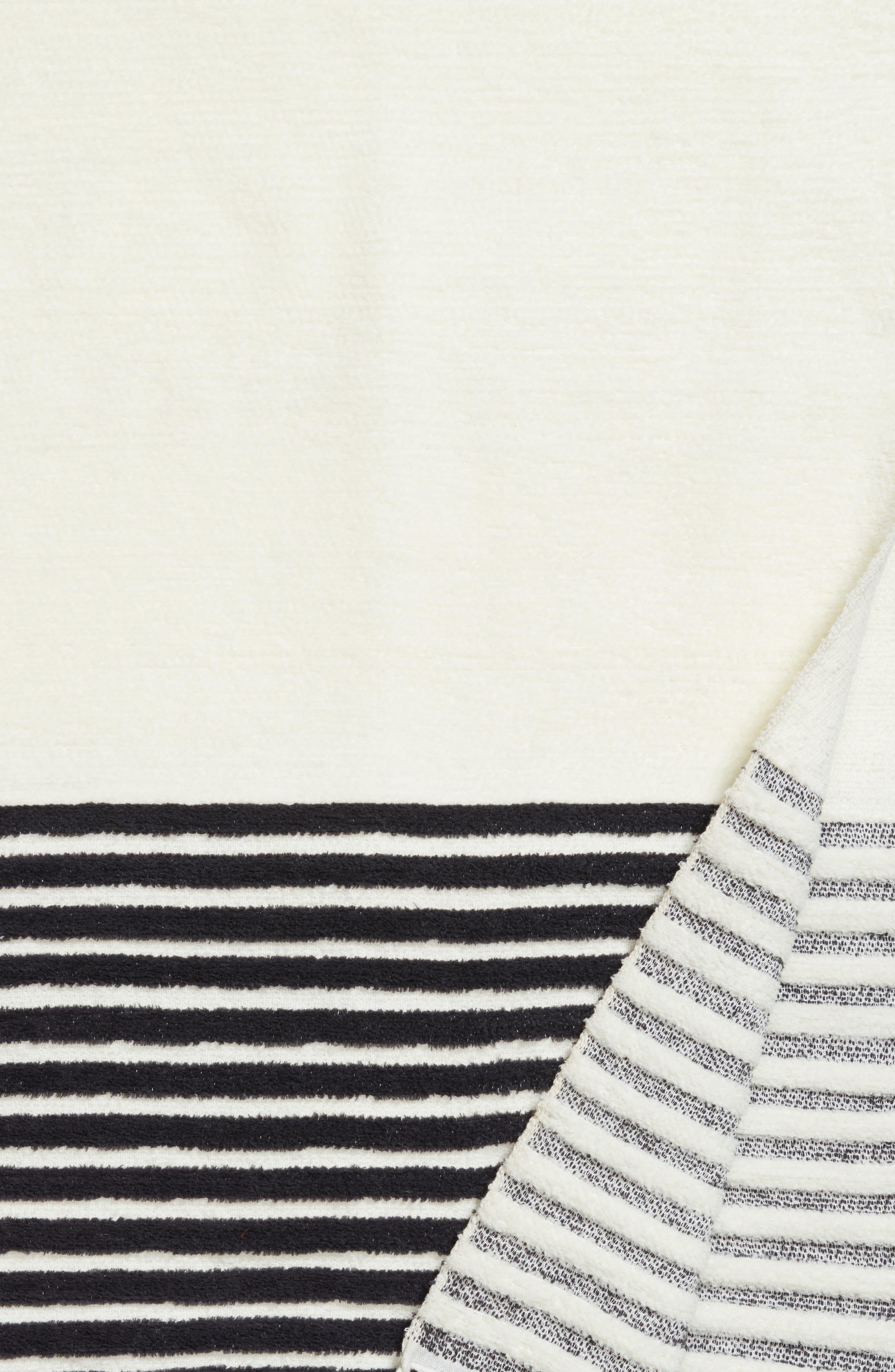 Hammam Stripe Throw,                             Alternate thumbnail 2, color,                             Ivory