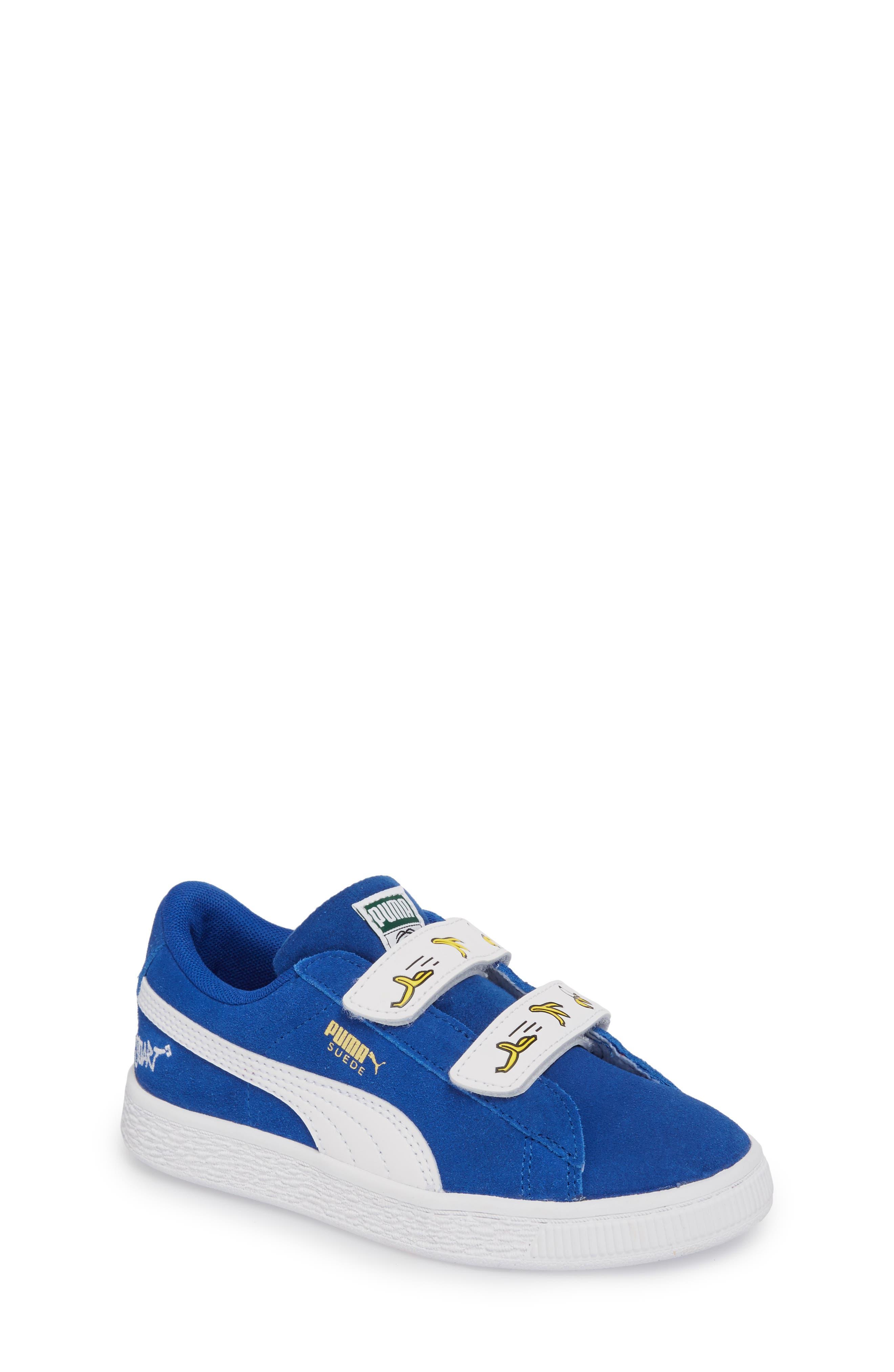x Minions Suede V Sneaker,                             Main thumbnail 1, color,                             Olympian Blue/ Puma White