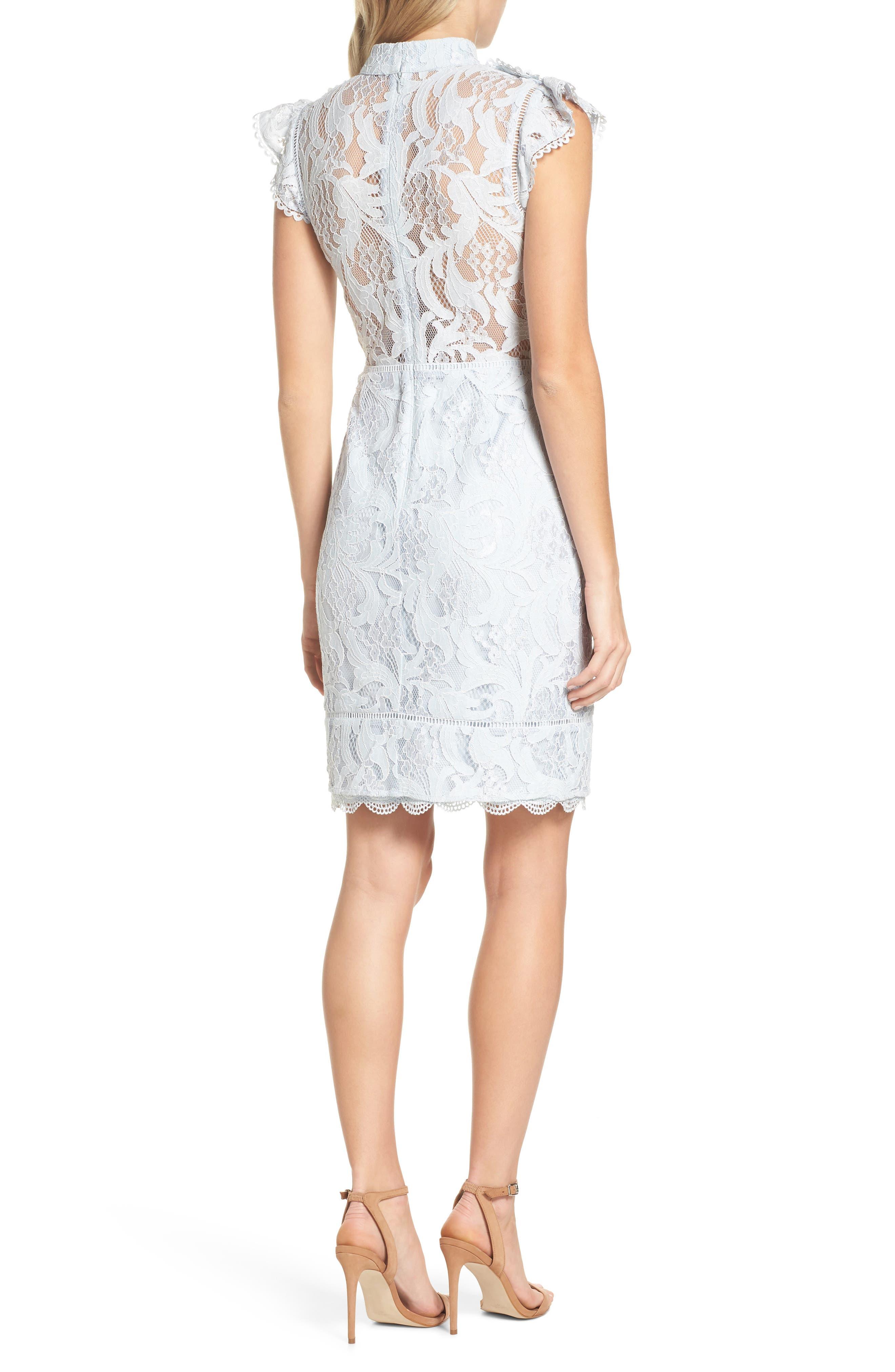 Alternate Image 2  - Adelyn Rae Delilah Lace Sheath Dress
