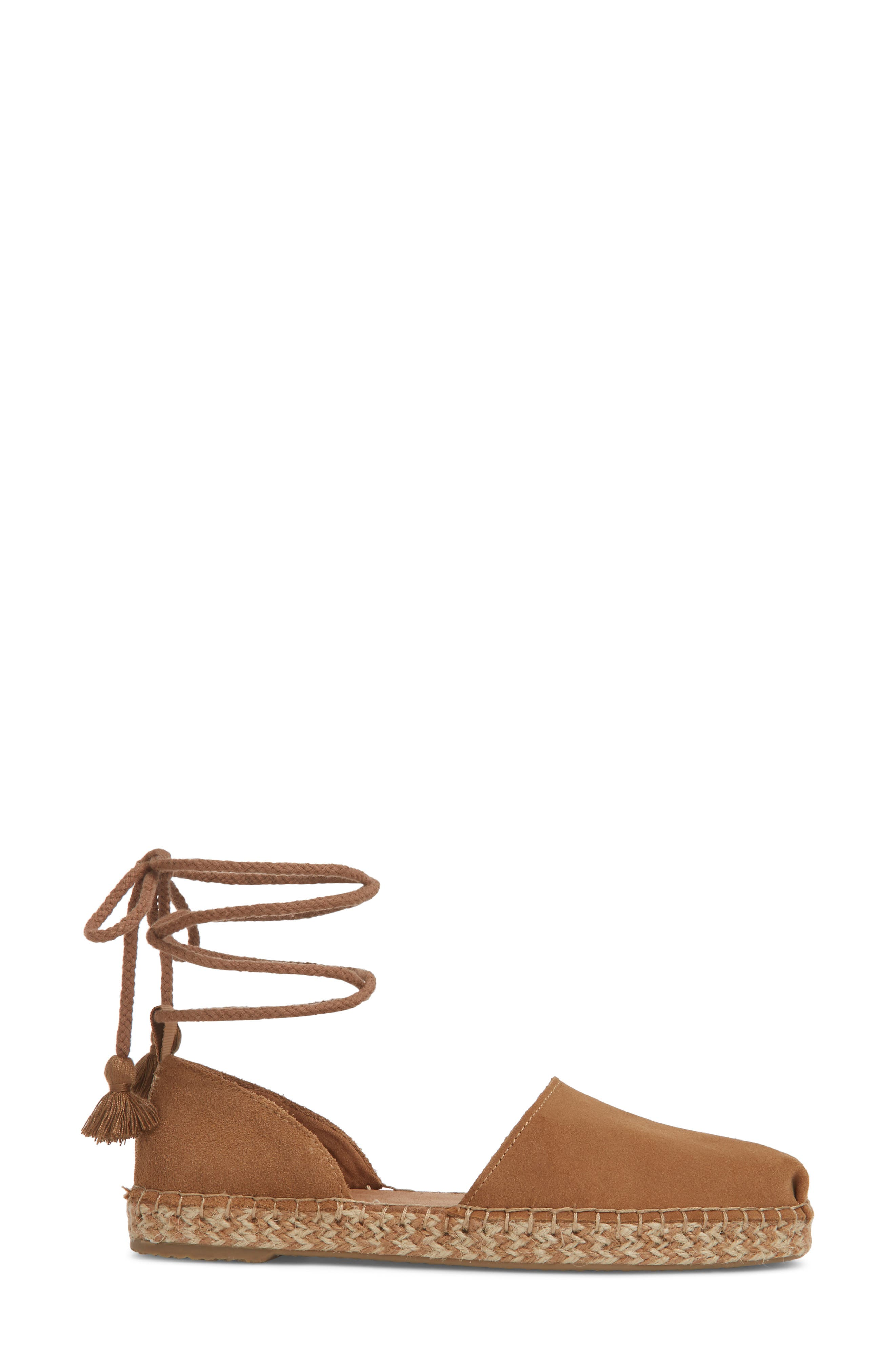 Katalina Espadrille,                             Alternate thumbnail 3, color,                             Toffee Suede