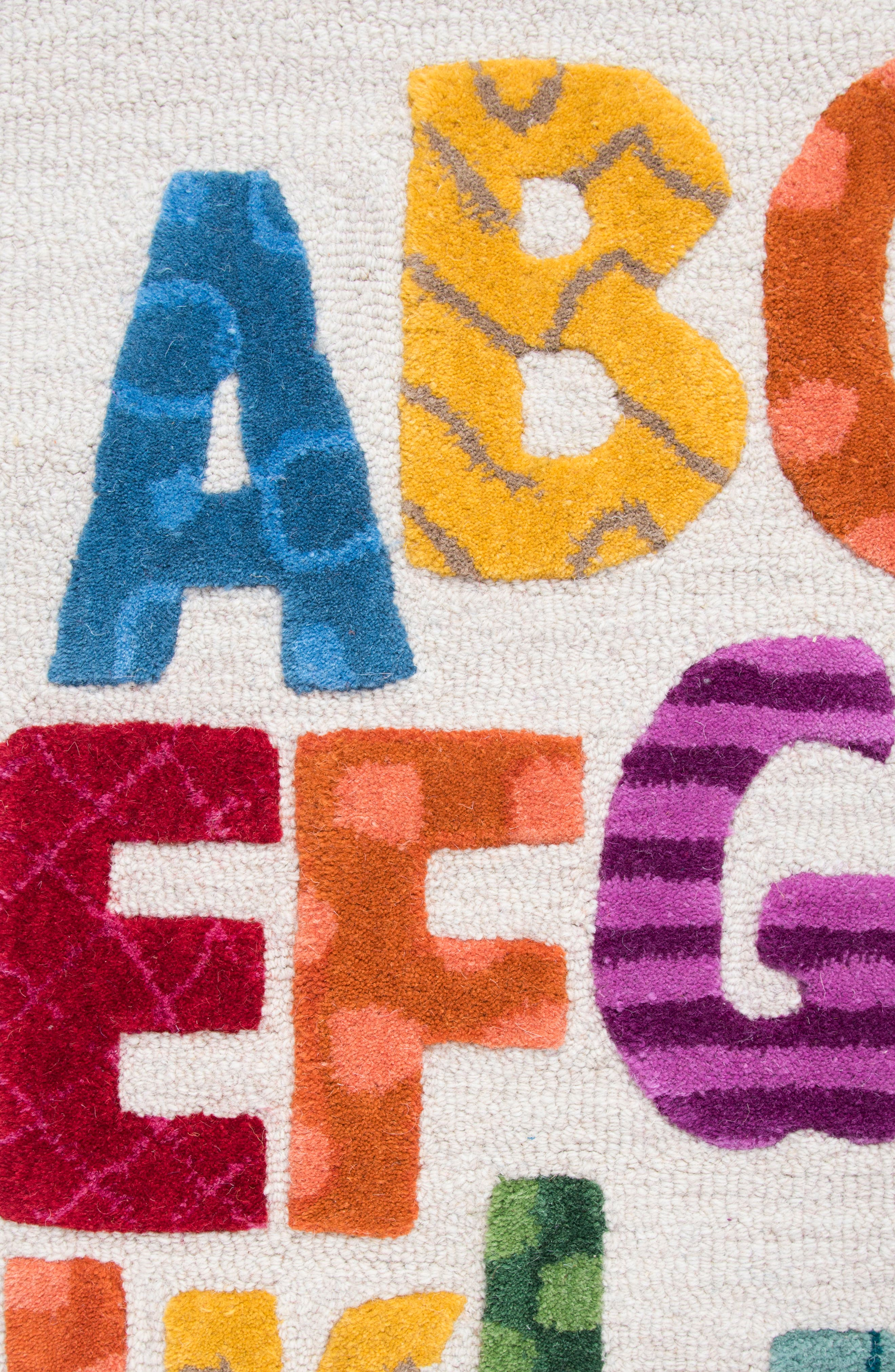 Play Day Alphabet Rug,                             Alternate thumbnail 2, color,                             Ivory