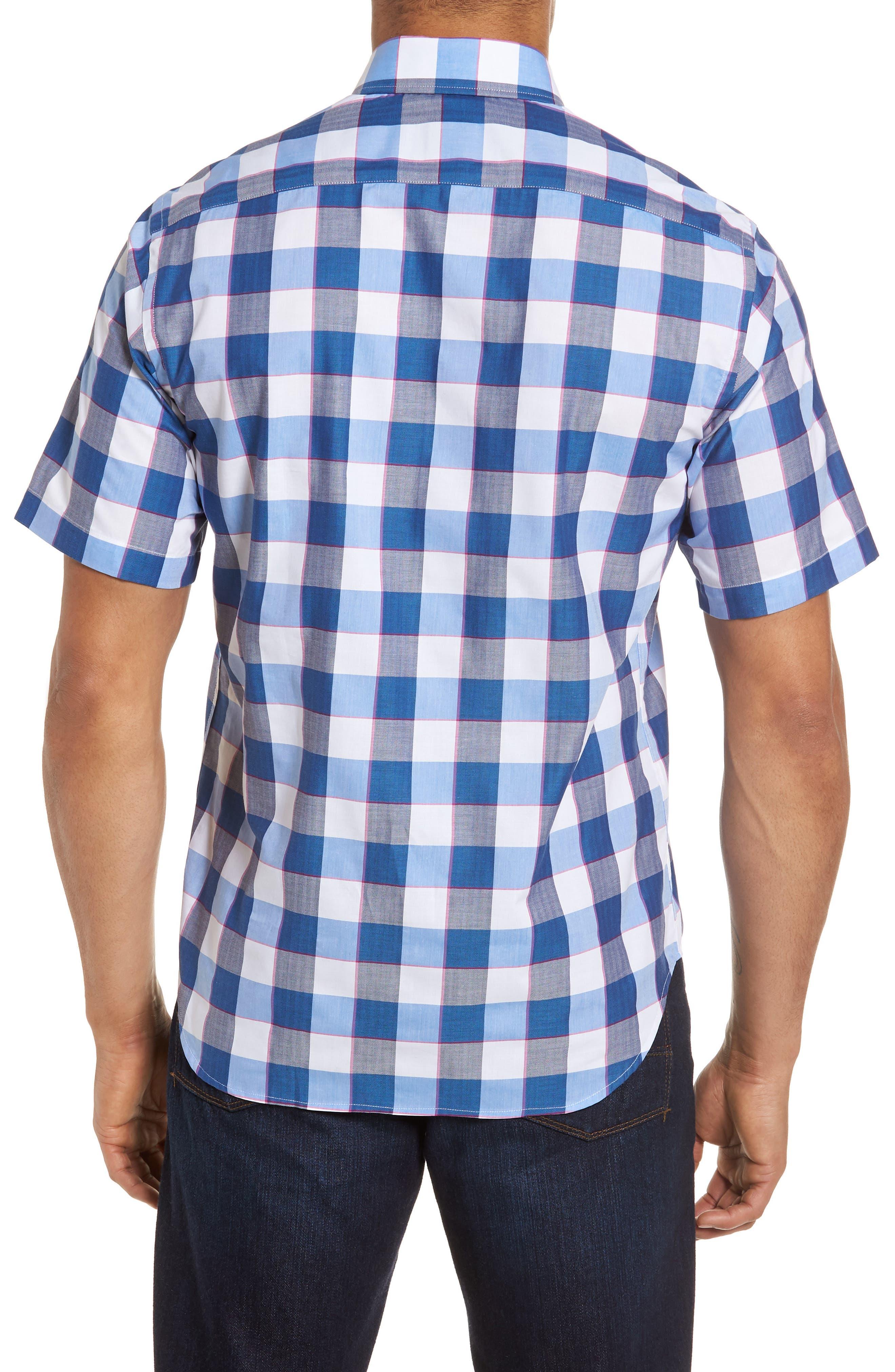 Jeff Regular Fit Check Sport Shirt,                             Alternate thumbnail 2, color,                             Navy