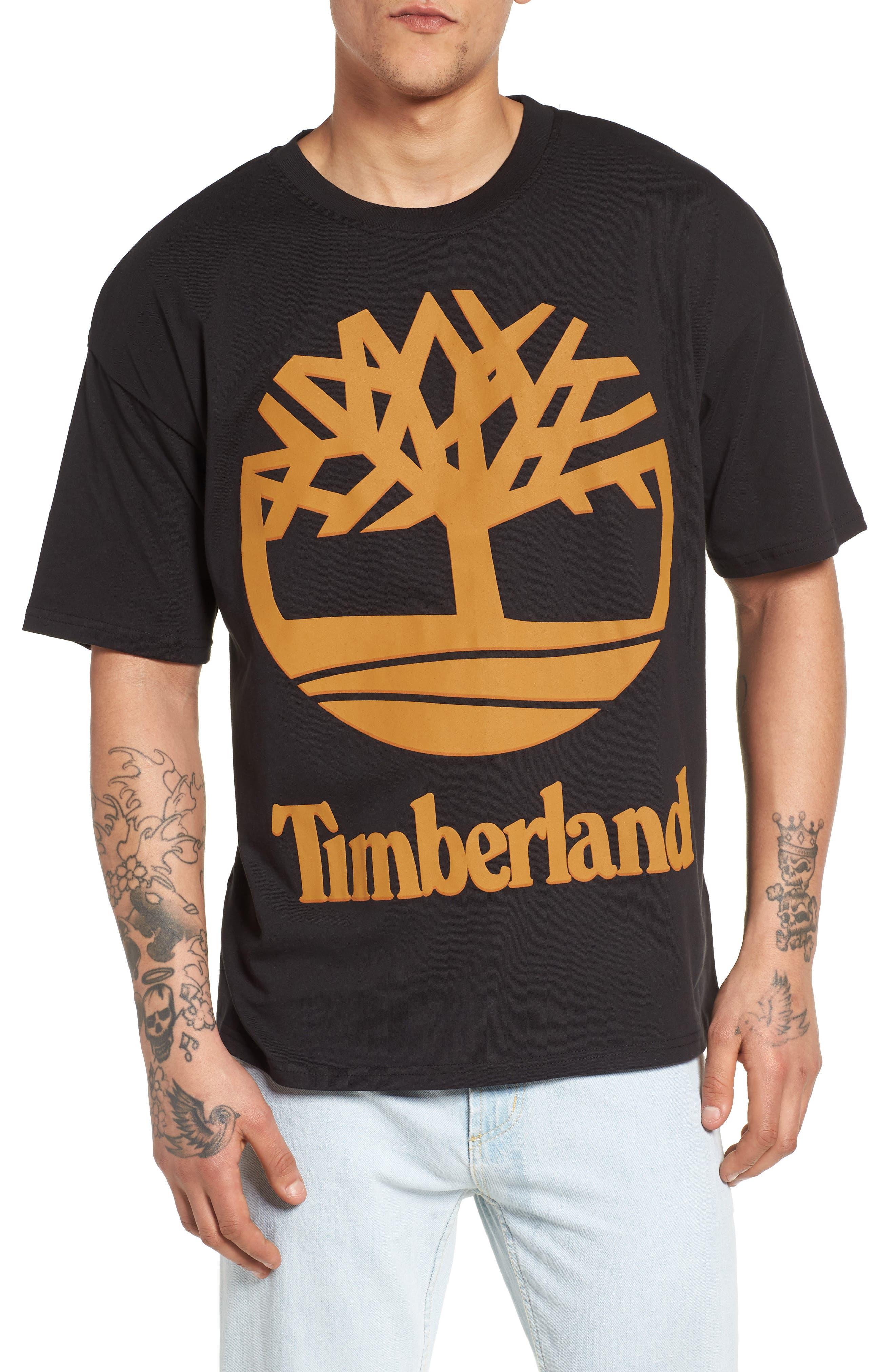 Logo T-Shirt,                         Main,                         color, Black/ Wheat