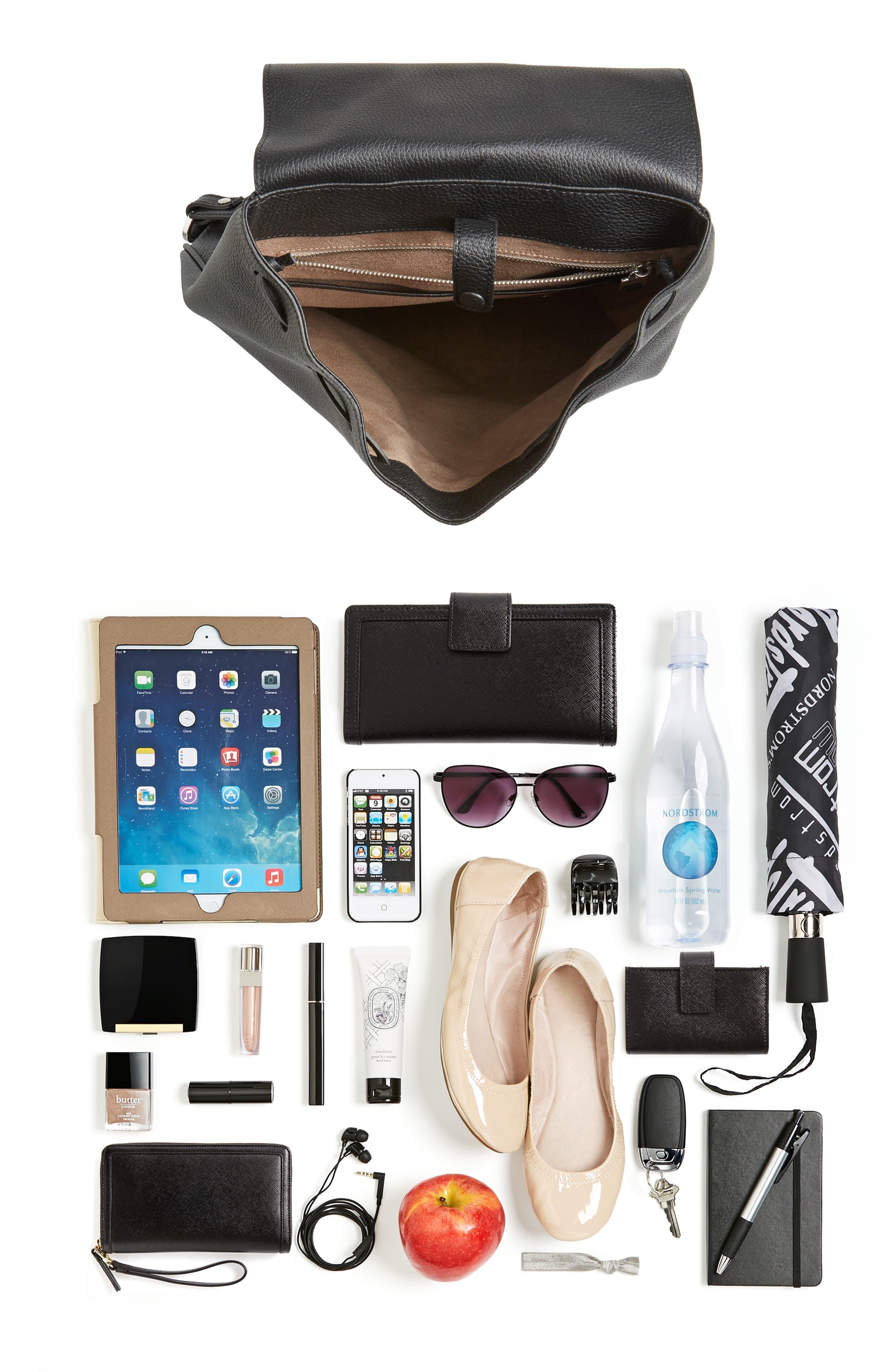 Carmen Cachemire Leather Backpack,                             Alternate thumbnail 7, color,