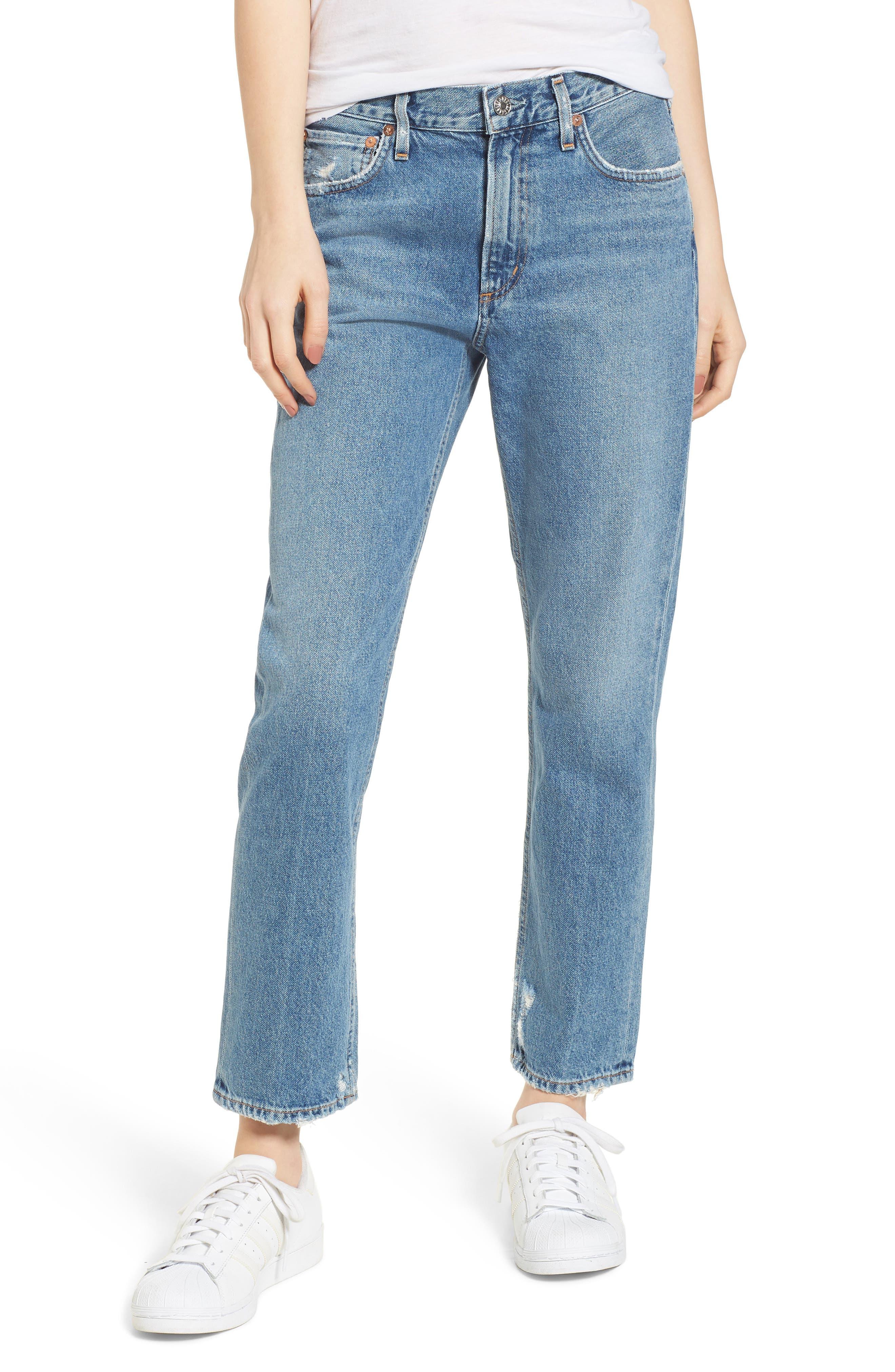 Cigarette High Waist Jeans,                         Main,                         color, Passenger