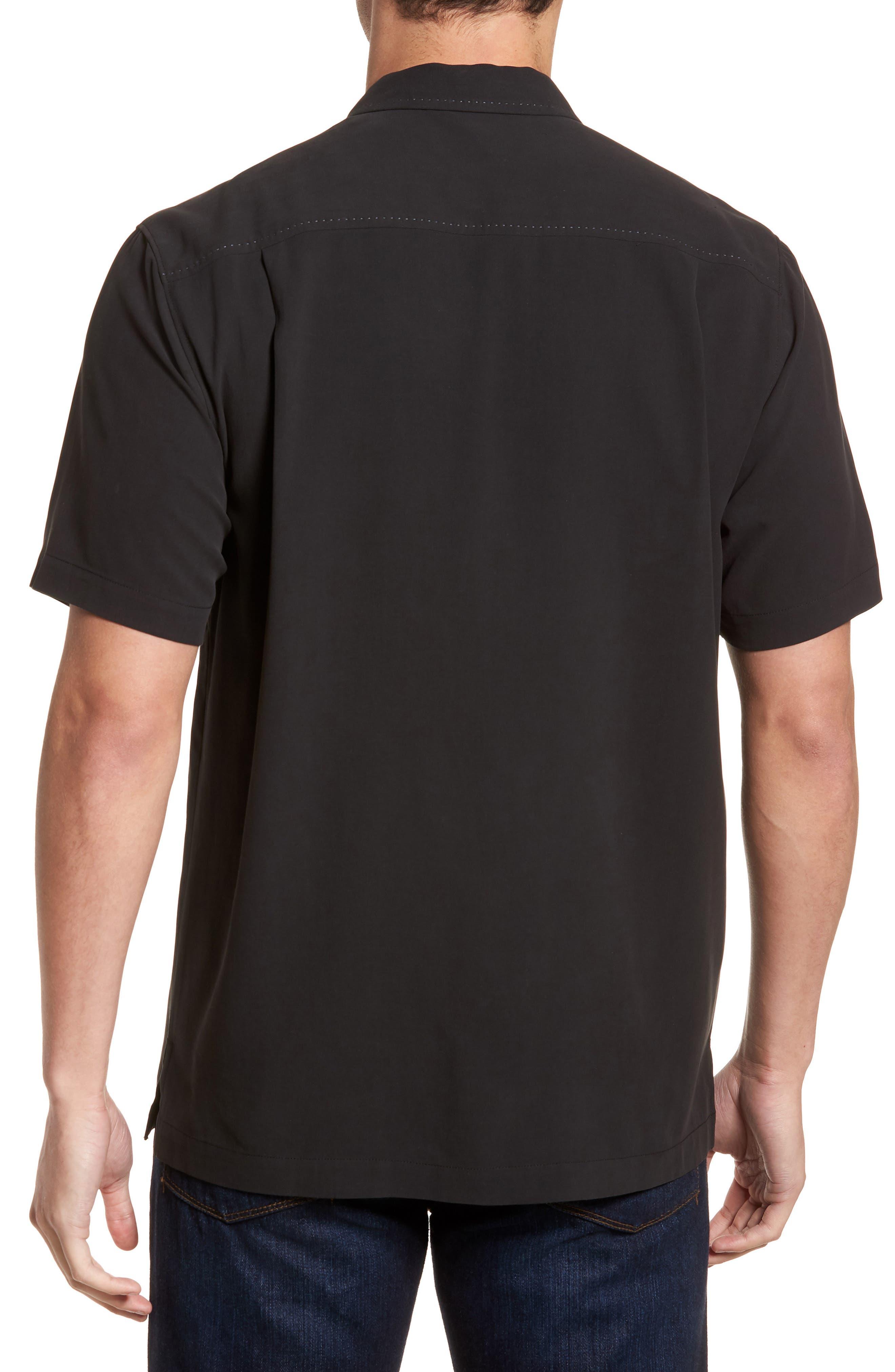 Catalina Twill Sport Shirt,                             Alternate thumbnail 2, color,                             Black