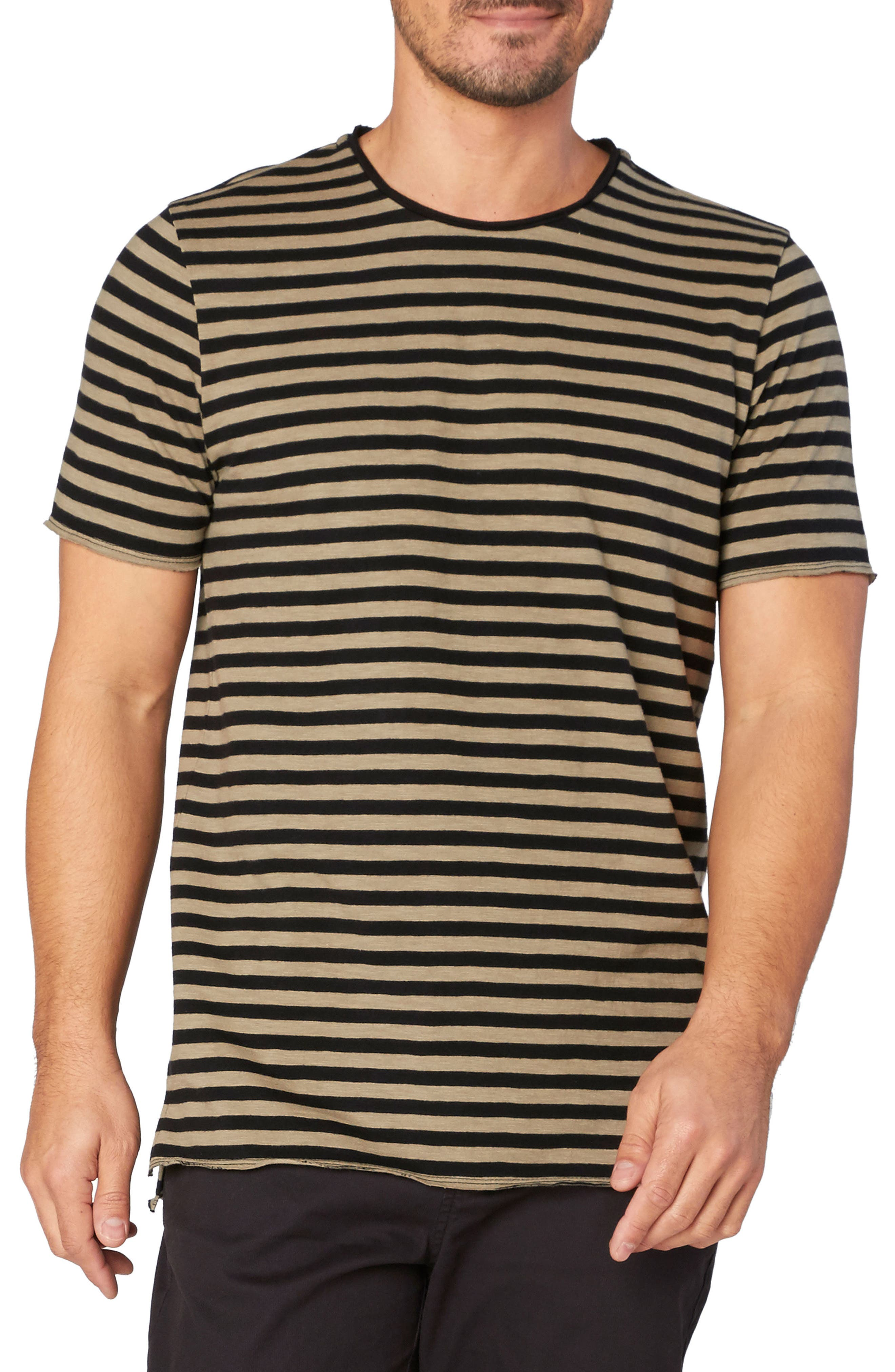 Kane Slub Stripe T-Shirt,                             Main thumbnail 1, color,                             Brindle