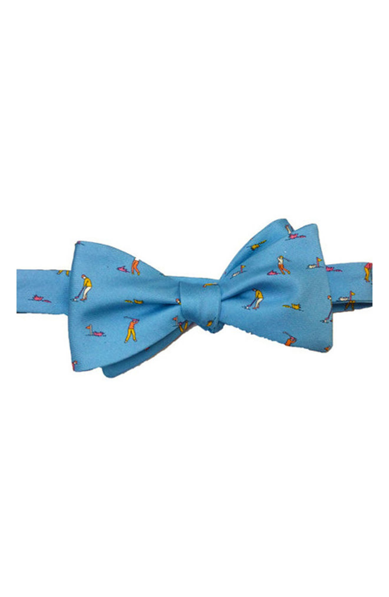 Foreplay Silk Bow Tie,                             Main thumbnail 1, color,                             Light Blue