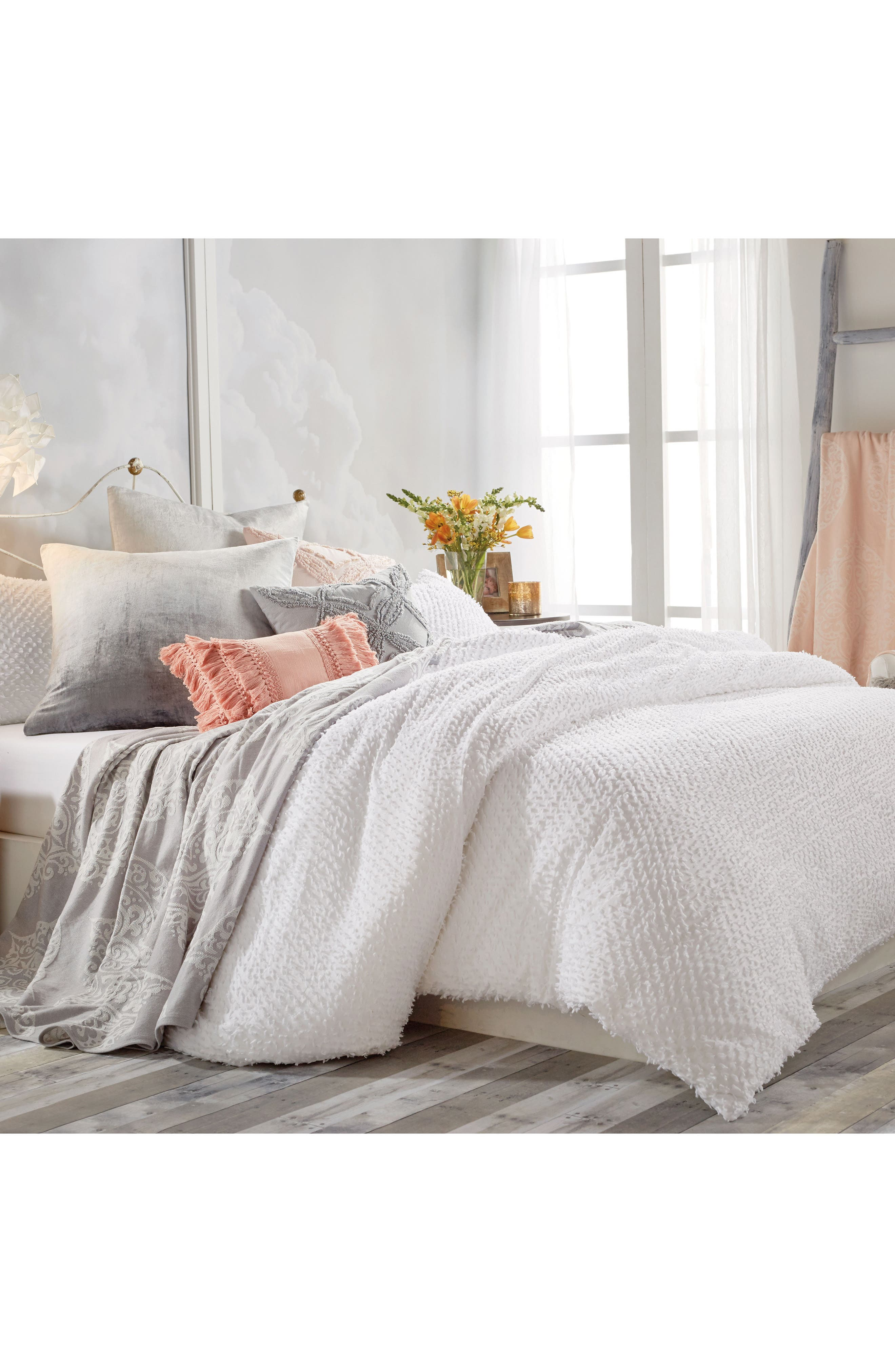 scallop solid cover queen scalloped duvet white elegant bedspread bedding quilt cotton pin king full