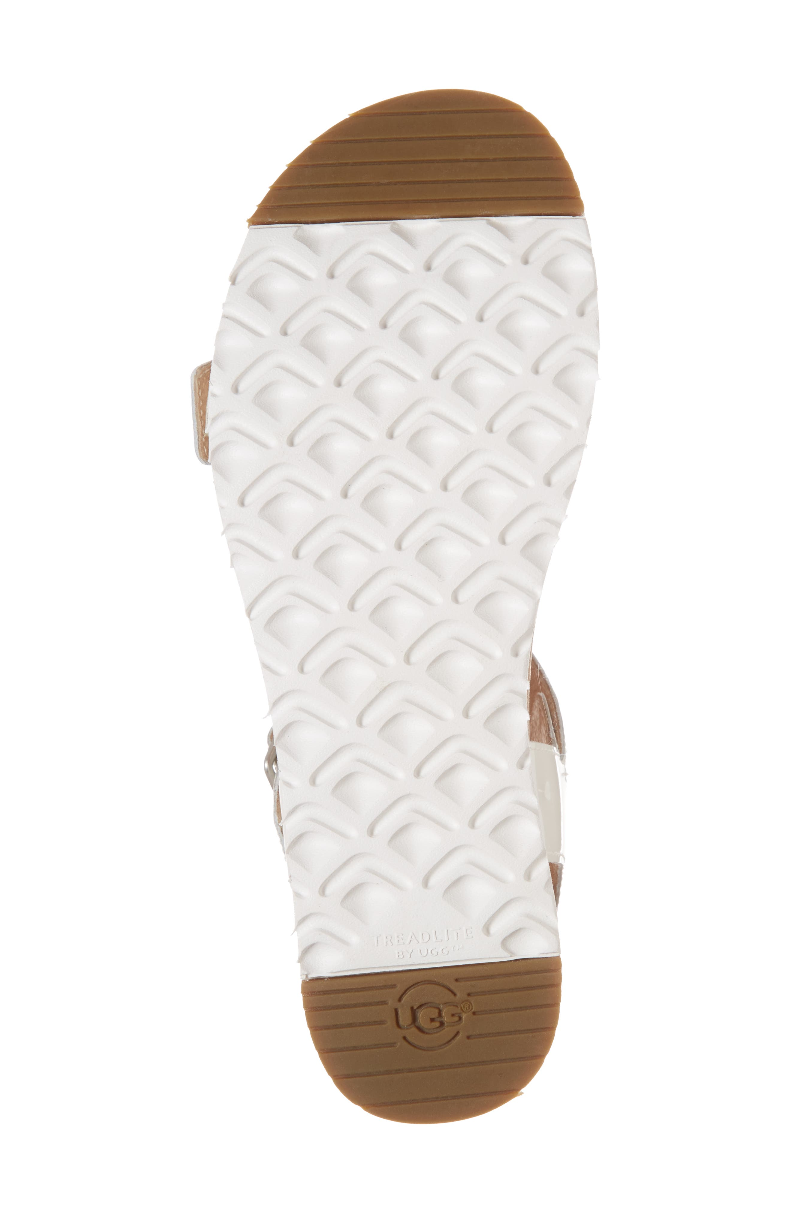 Angie Platform Sandal,                             Alternate thumbnail 6, color,                             White Leather