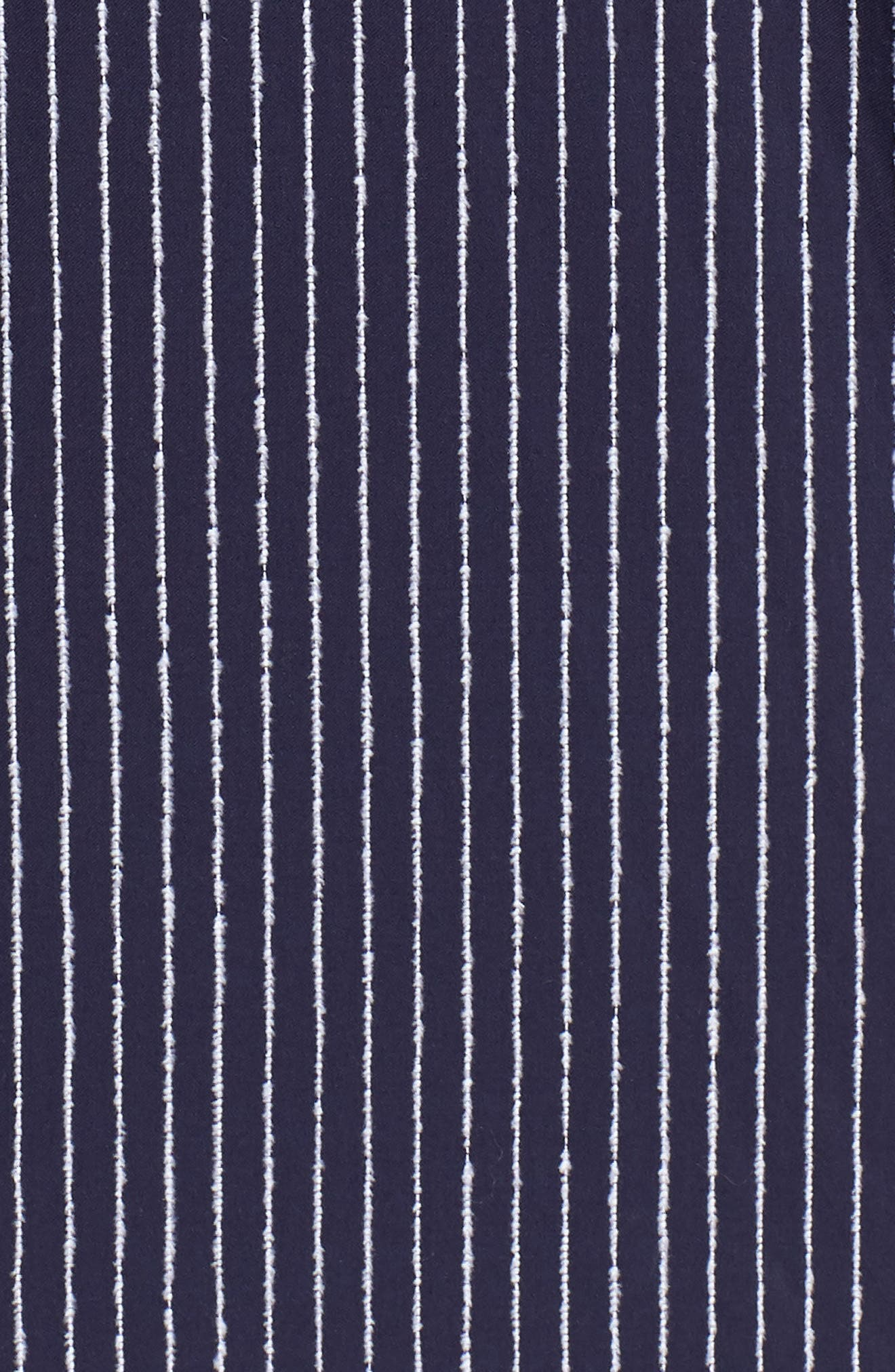 Irving Chenille Stripe Sport Shirt,                             Alternate thumbnail 5, color,                             Eclipse Stripe