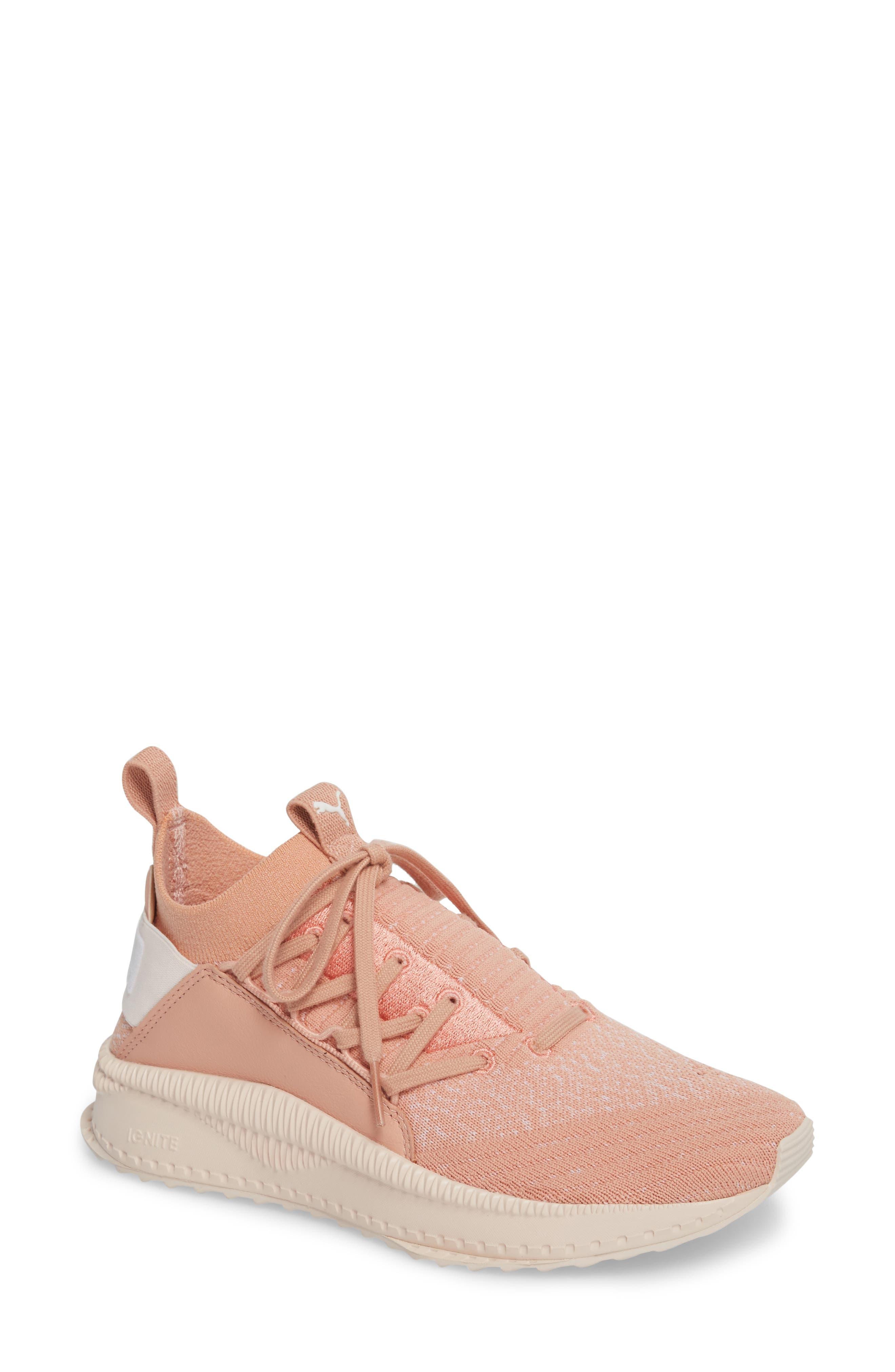 Tsugi Jun Knit Sneaker,                             Main thumbnail 1, color,                             Peach Beige/ Puma White/ Pearl