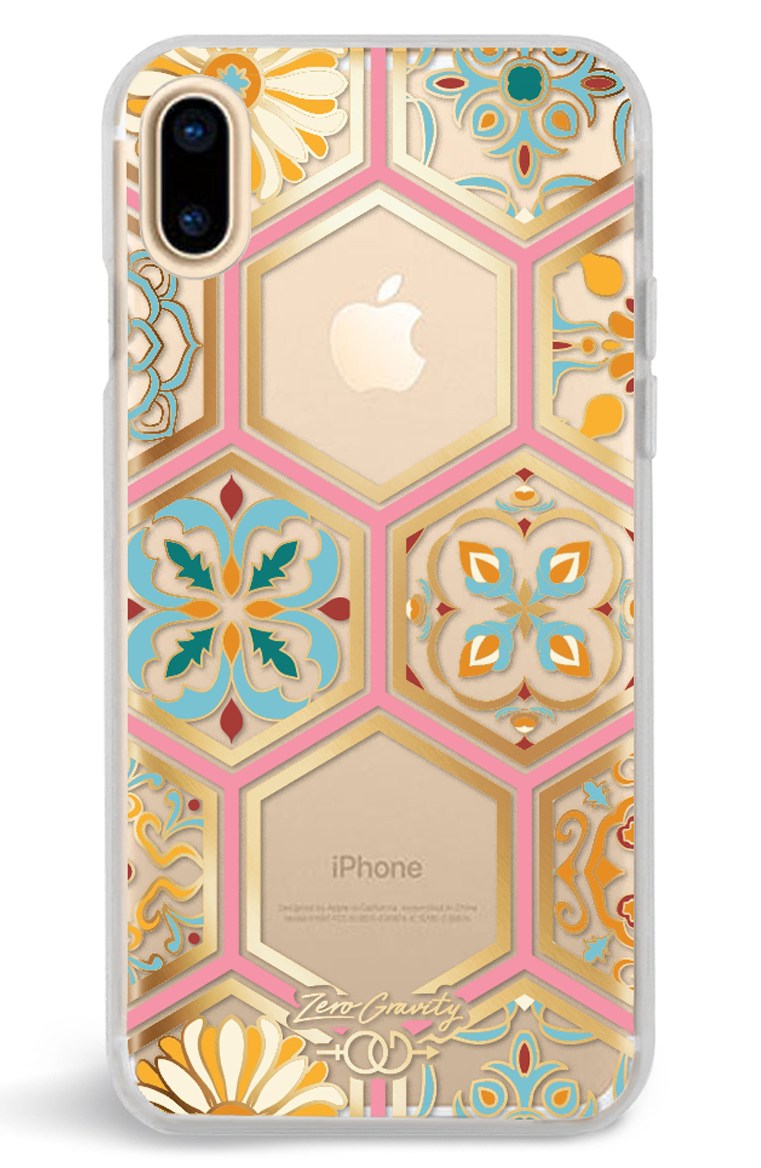 Imperial iPhone X Case,                         Main,                         color, Clear Multi