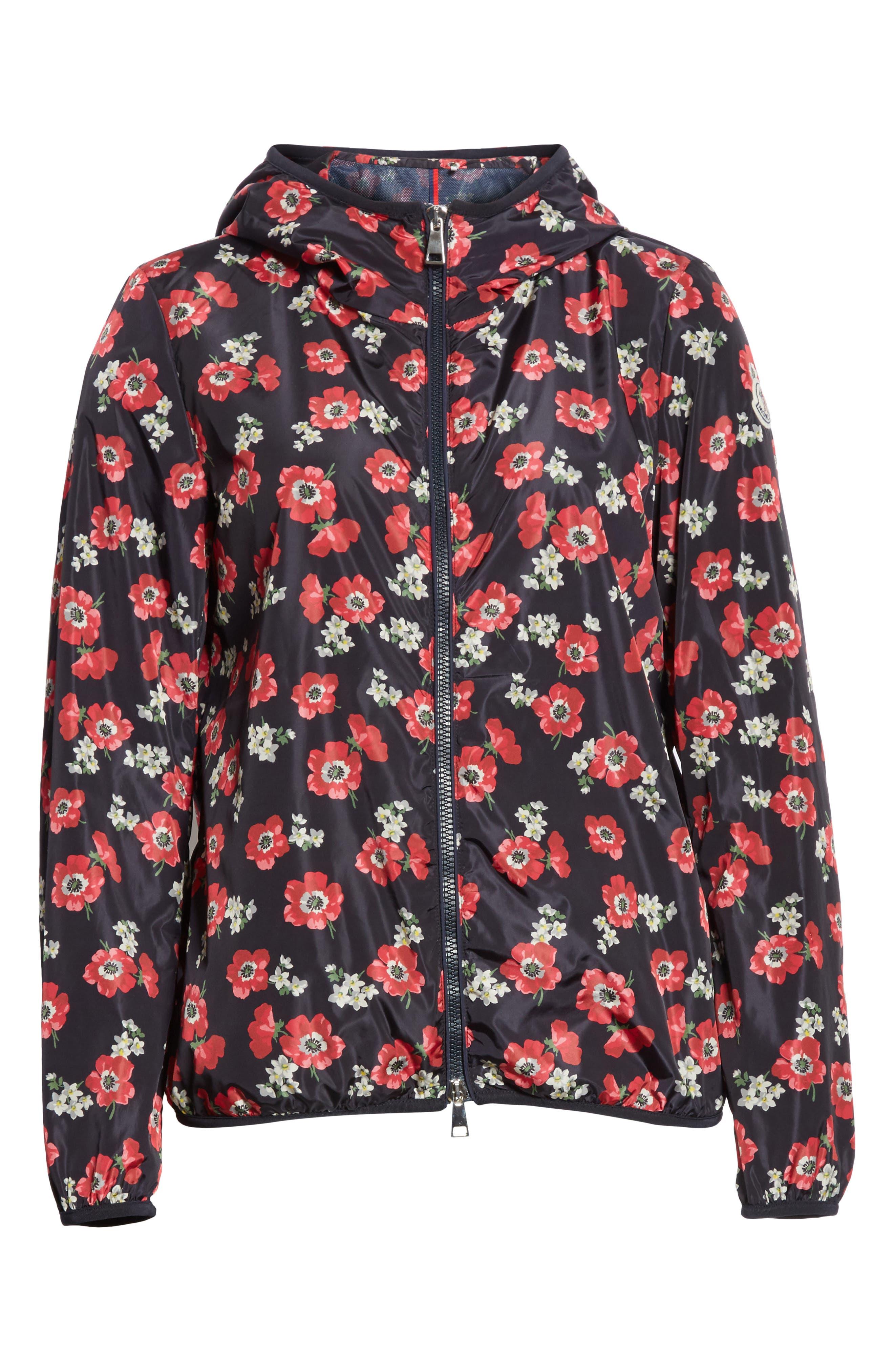 Vivre Floral Print Raincoat,                             Alternate thumbnail 6, color,                             Echo Print