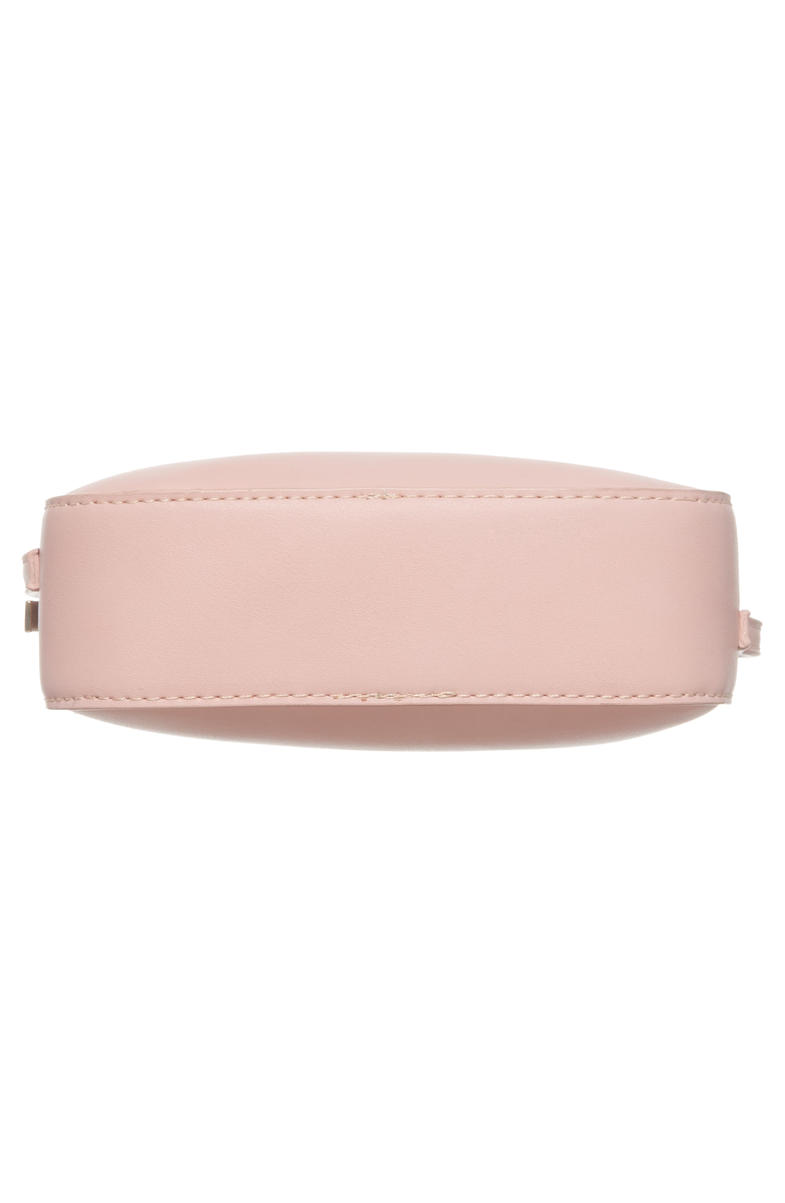 Faux Leather Box Bag,                             Alternate thumbnail 6, color,                             Pink