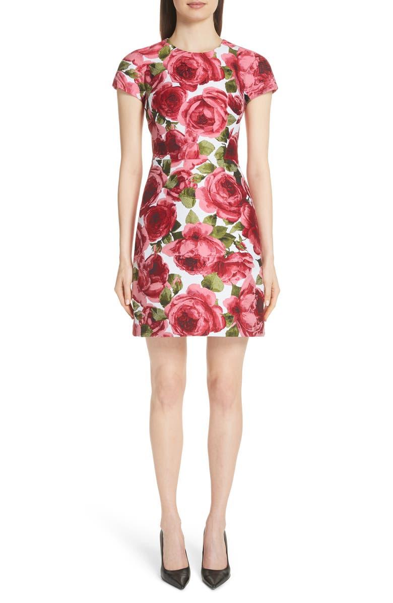 Rose Jacquard Tee Dress