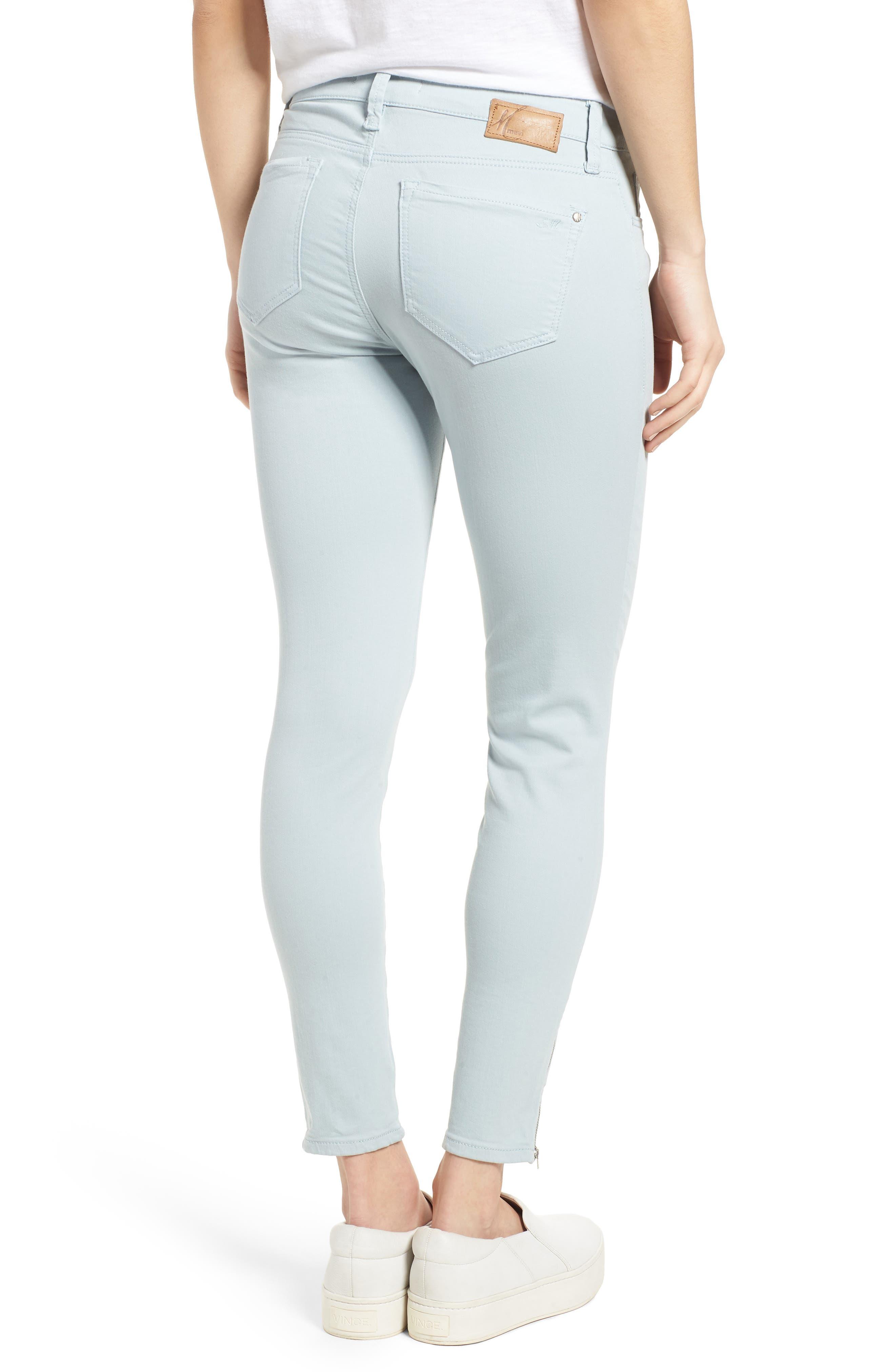 Adriana Zip Ankle Super Skinny Jeans,                             Alternate thumbnail 2, color,                             Zip Slate Twill