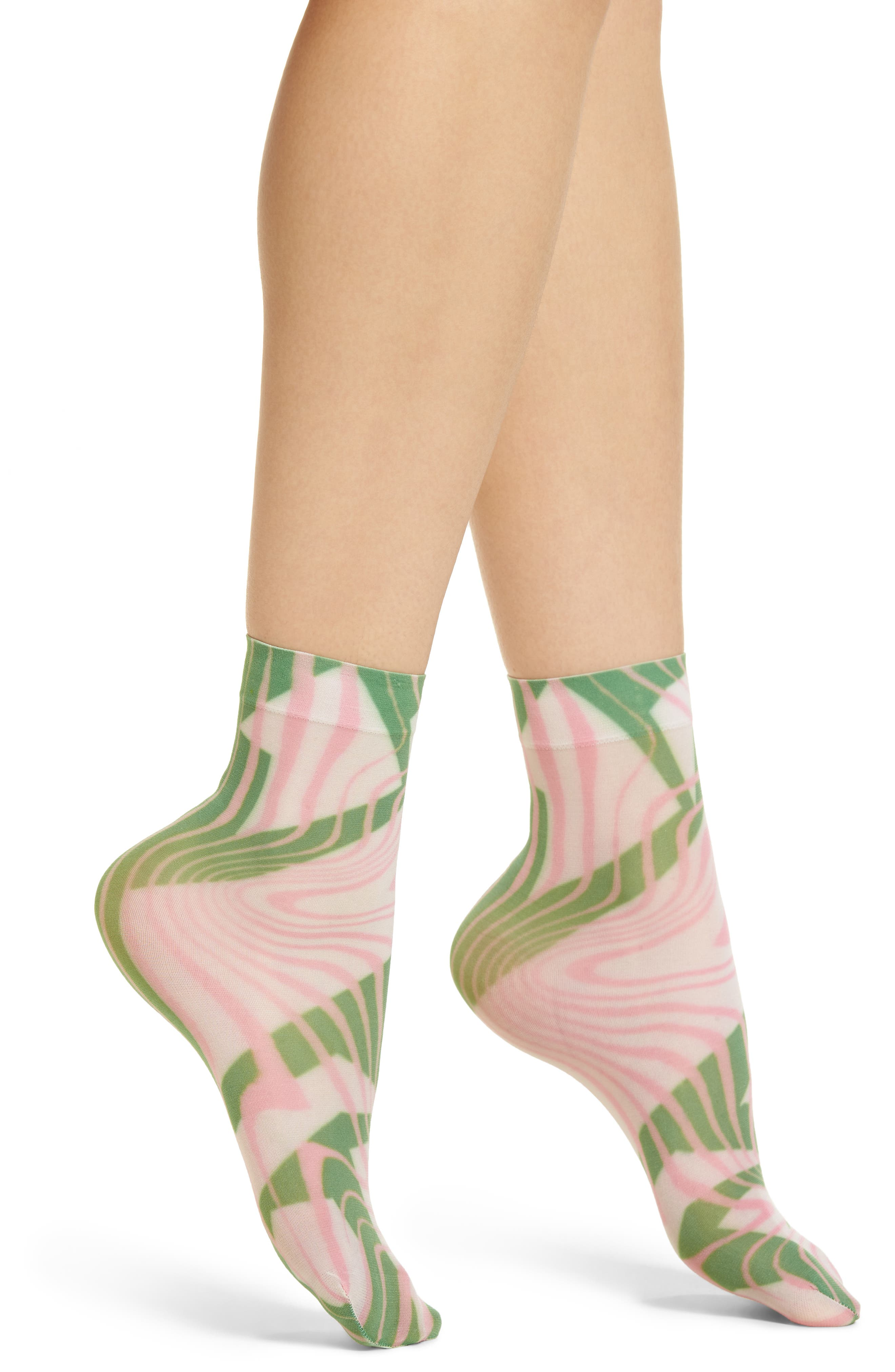 Mia Ankle Socks,                         Main,                         color, Pink