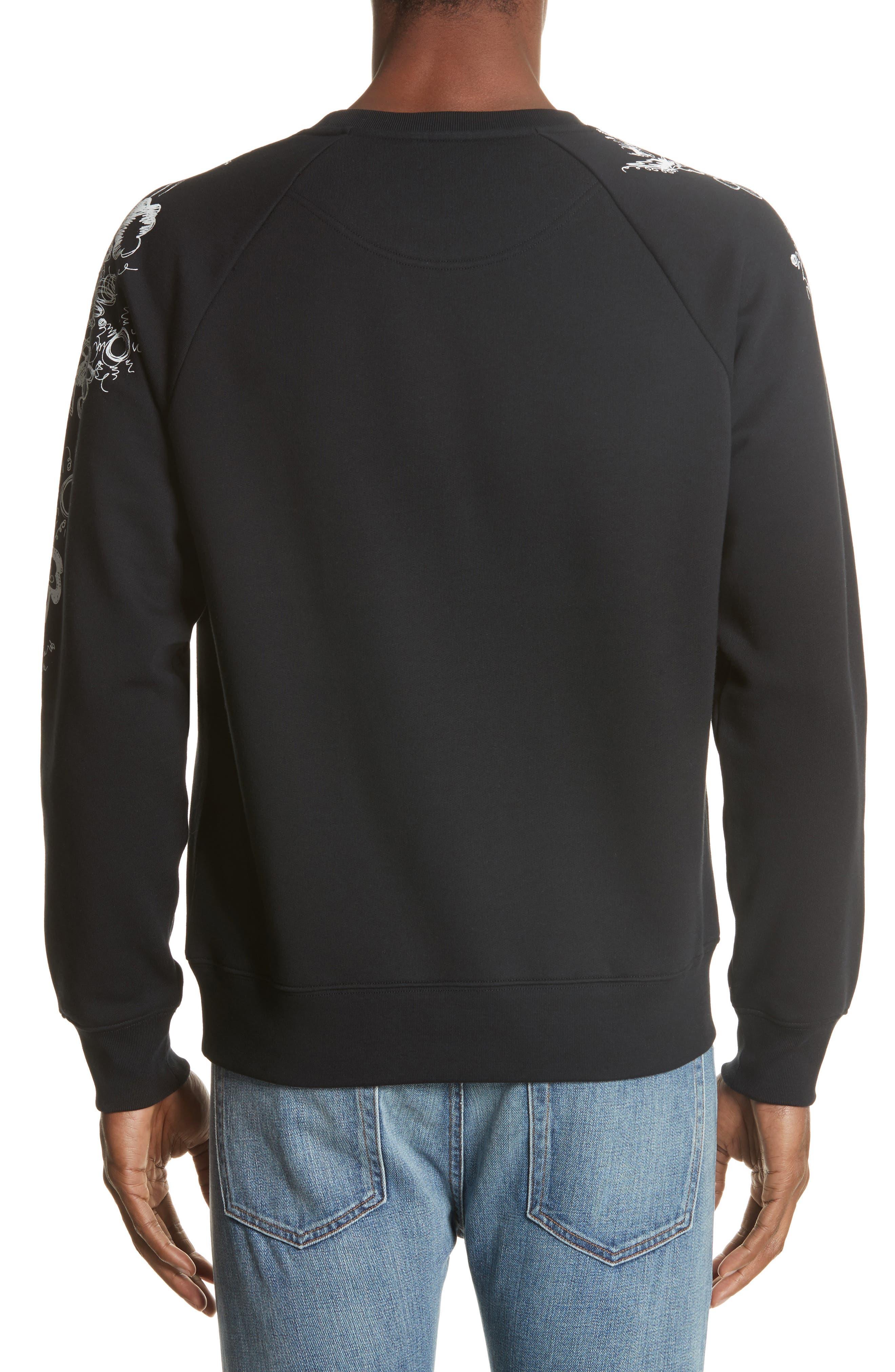 Barford Crewneck Sweatshirt,                             Alternate thumbnail 2, color,                             Black