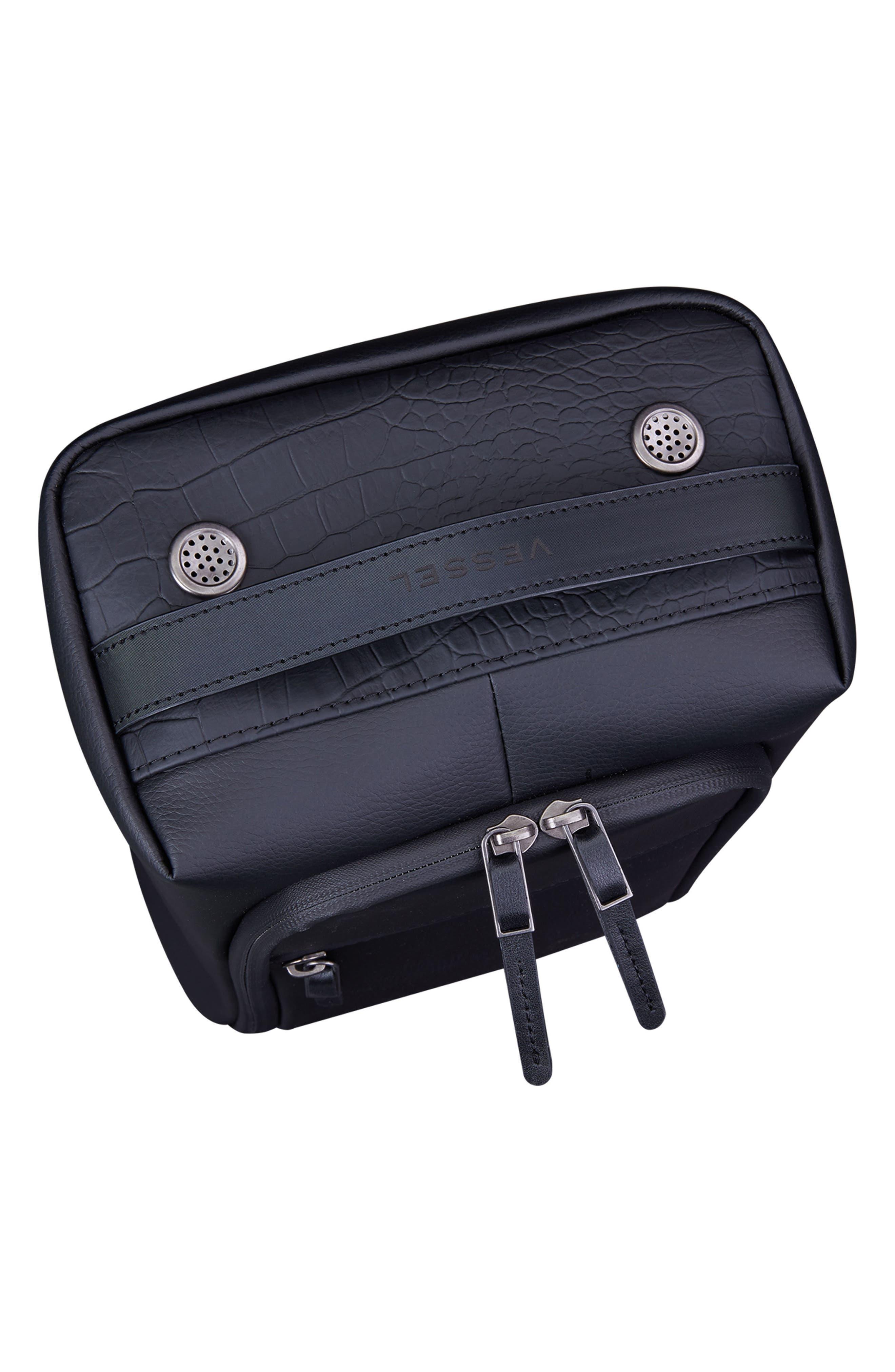 Signature 2.0 Faux Leather Shoe Bag,                             Alternate thumbnail 4, color,                             Pebbled/ Croc Black