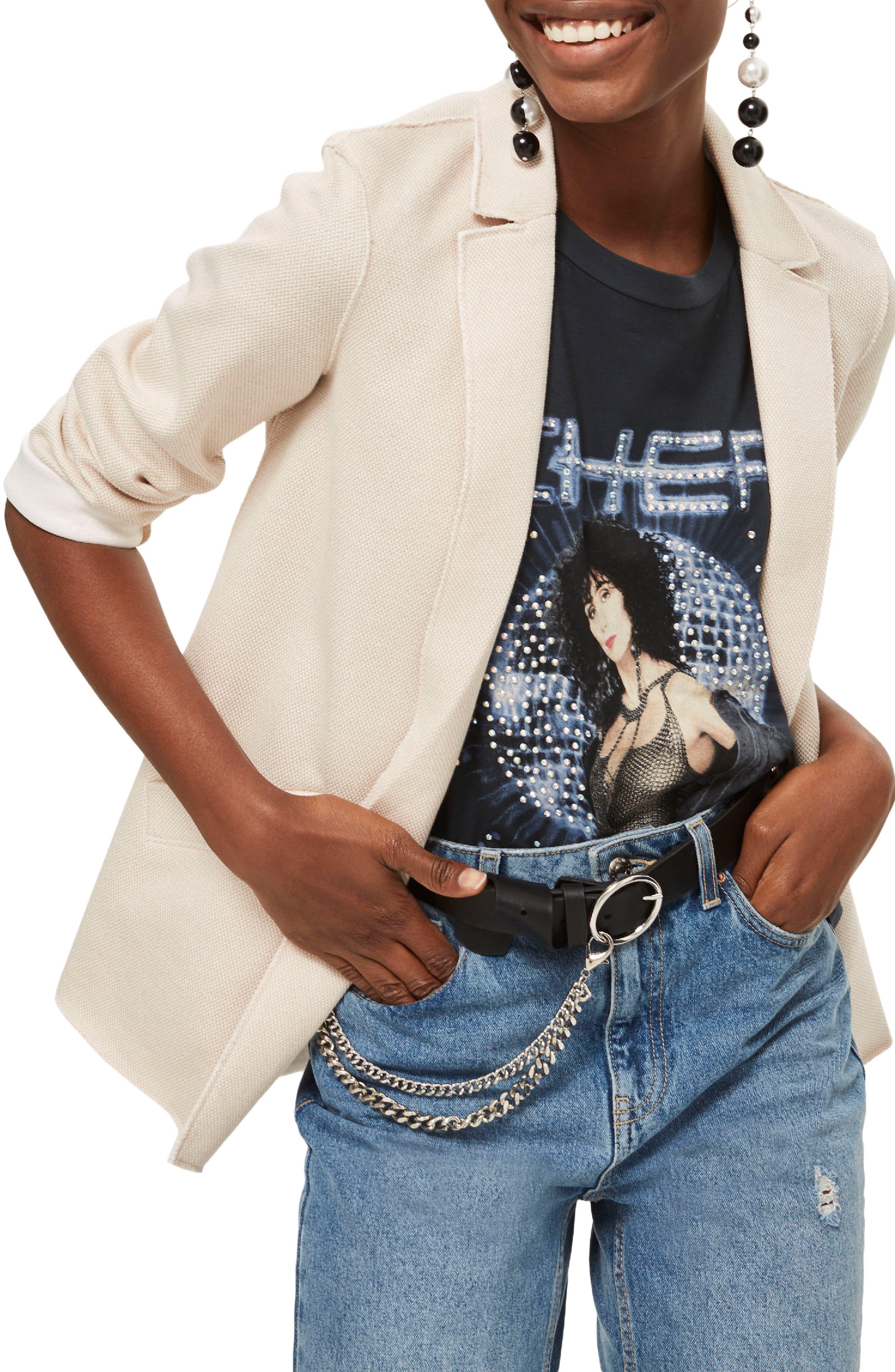 Topshop Boyfriend Jersey Jacket