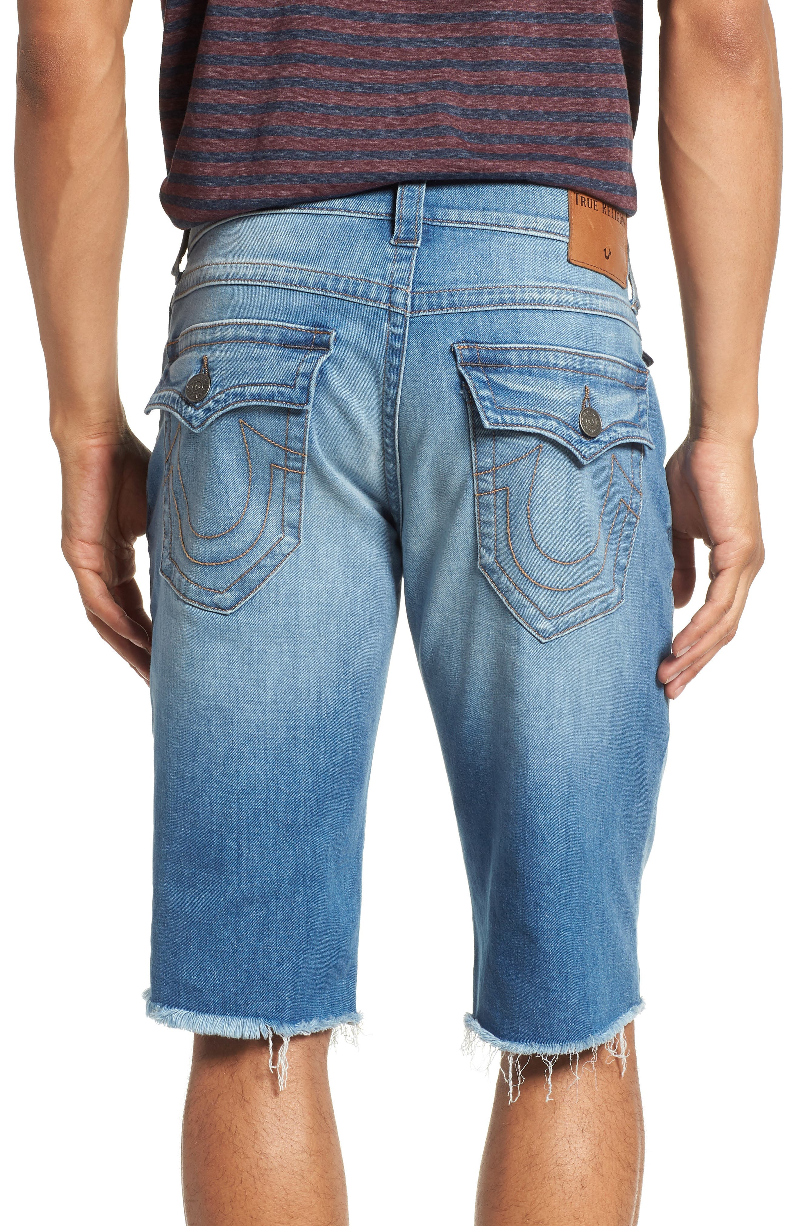 Alternate Image 2  - True Religion Brand Jeans Ricky Flap Pocket Shorts
