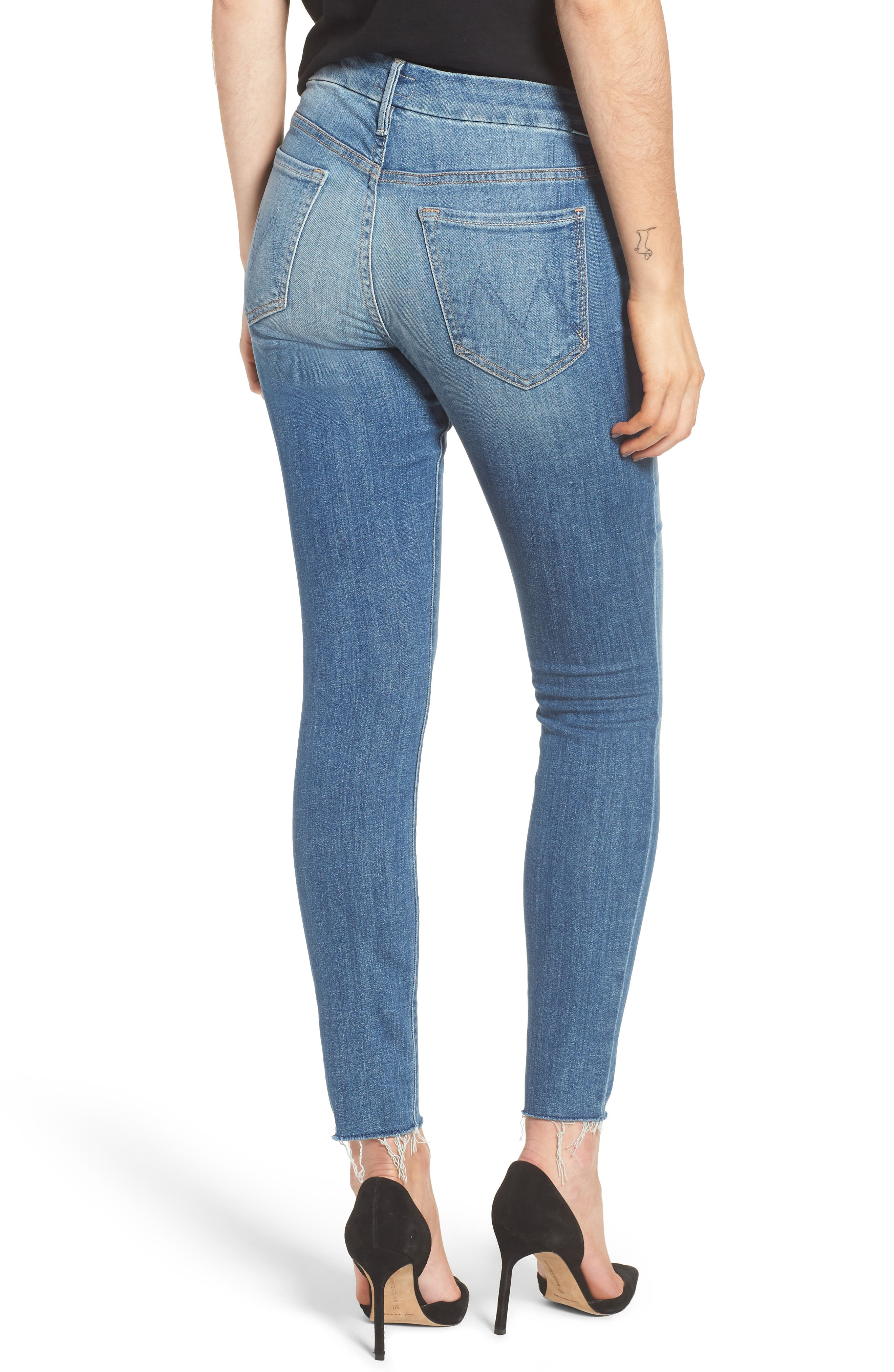 The Looker Fray Ankle Skinny Jeans,                             Alternate thumbnail 2, color,                             One Smart Cookie