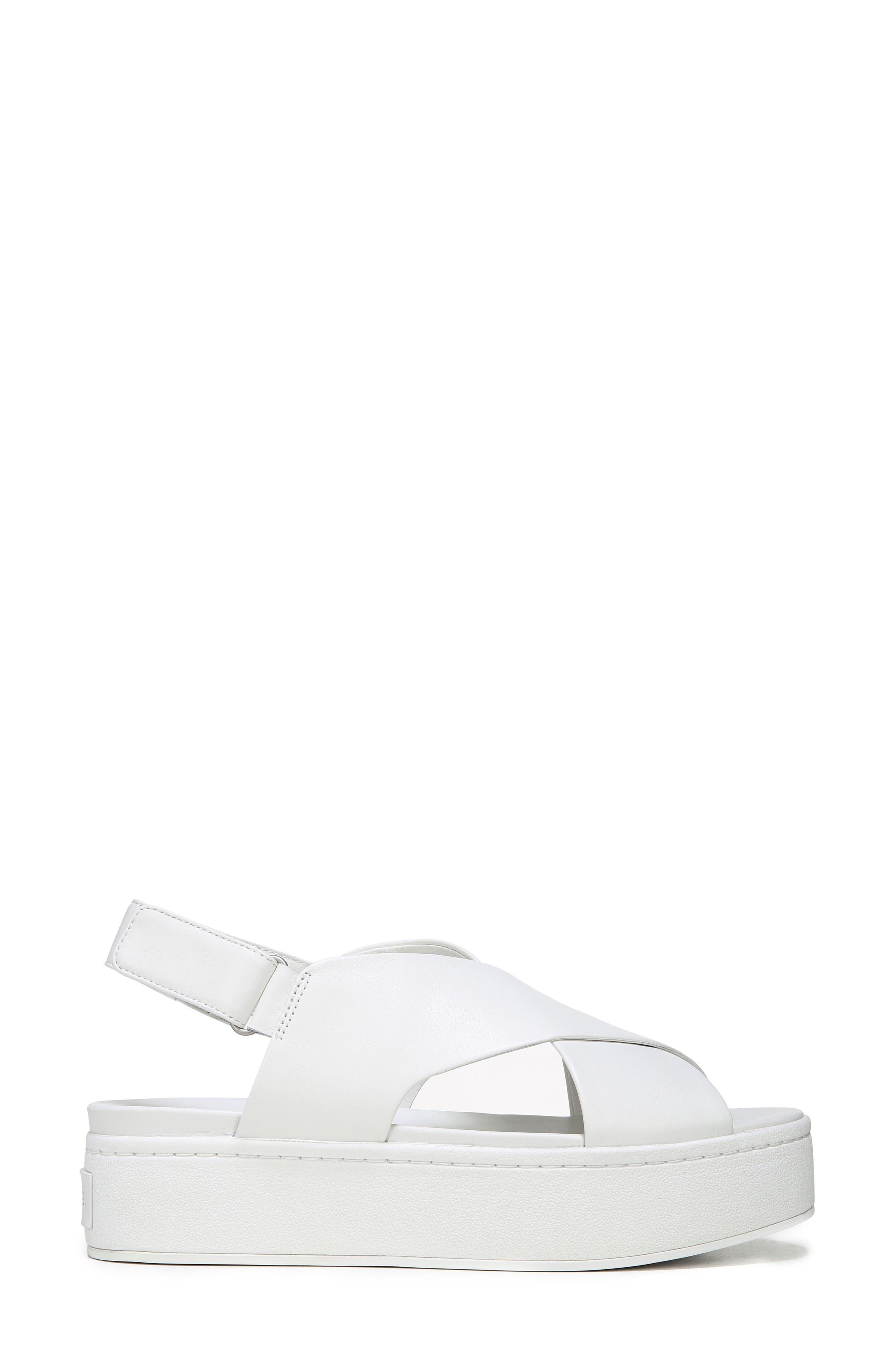 Weslan Cross Strap Slingback Sandal,                             Alternate thumbnail 3, color,                             Horchata