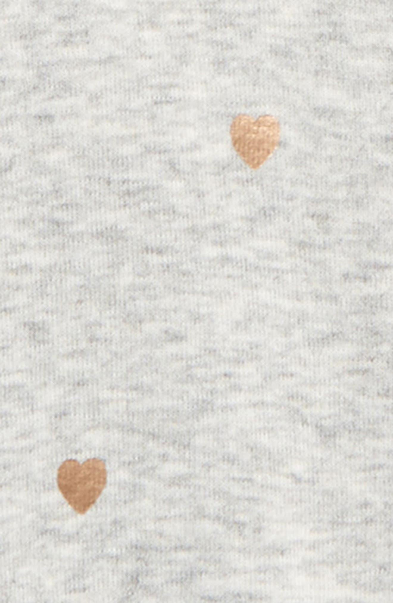 Alternate Image 2  - Peek Heart Romper (Baby Girls)