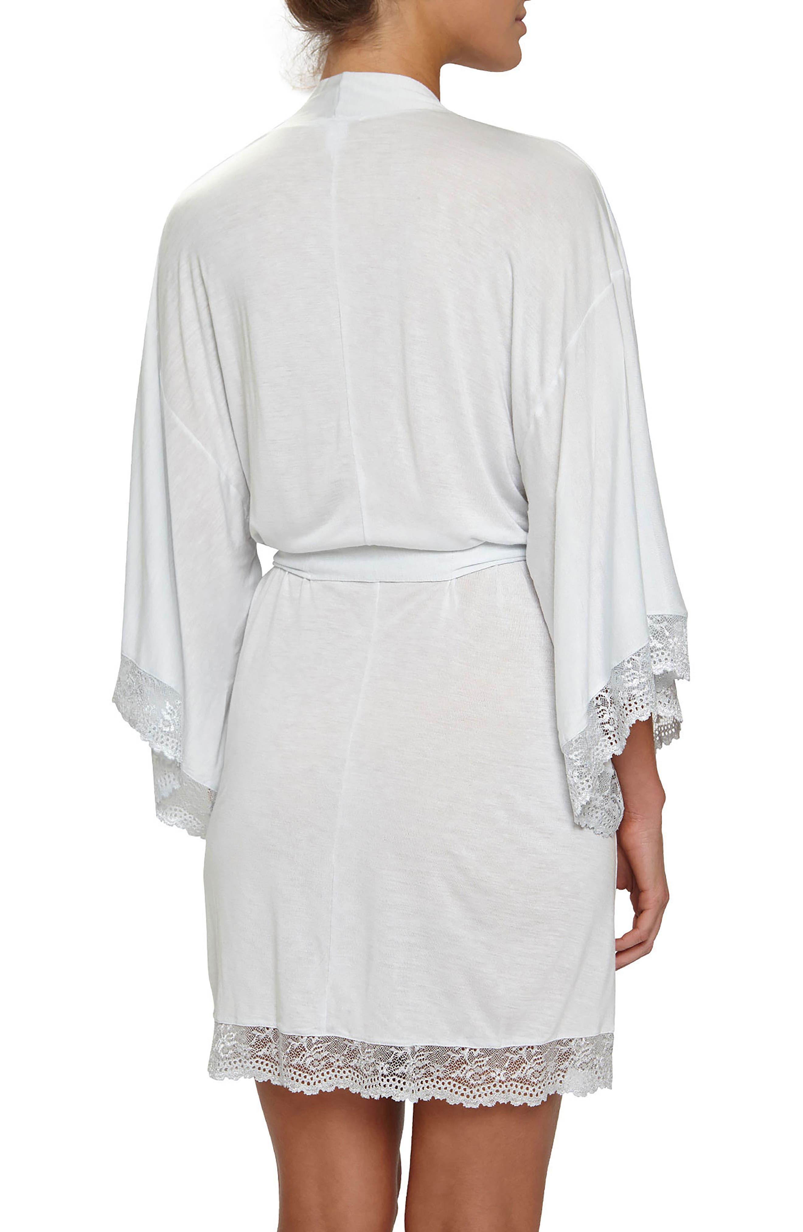 'Colette' Kimono Robe,                             Alternate thumbnail 2, color,                             Water Blue